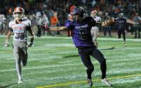 Rolling Meadows faced Hersey in high school football action Friday night.
