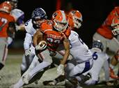The Hersey High School football team hosted and won 28-6 over Rolling Meadows High School during the first round of football playoffs on Friday, Oct. 27, in Arlington Heights.