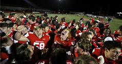The Naperville Central Redhawks hosted and won 35-14 over the West Aurora Blackhawks for Class 8A first round playoff football.