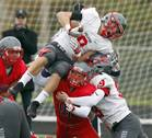 The South Elgin High School football team hosted Palatine High School during the first round of football playoffs on Saturday, Oct. 28, in Streamwood.
