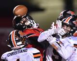 Barrington High School hosted and fell in OT to Minooka, 41-34 in second round playoff football action on Friday in Barrington.