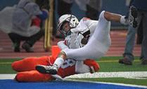 The Conant Cougars faced the Hoffman Estates Hawks in football action on Friday, Sept. 27 in Hoffman Estates.