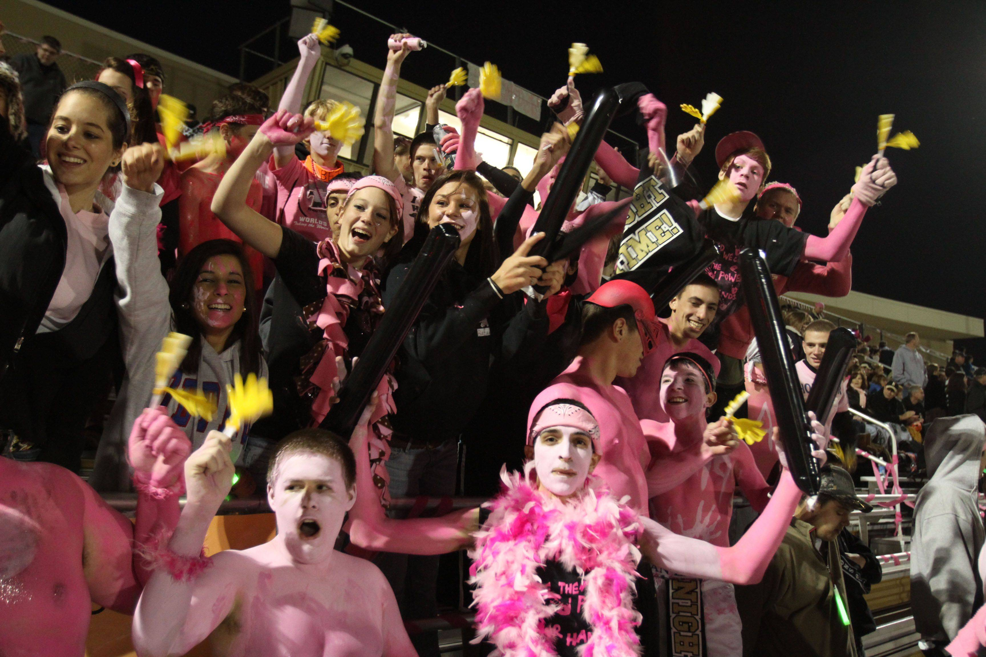 WEEK 8- Grayslake North fans wore pink to watch their team play Grayslake Central.