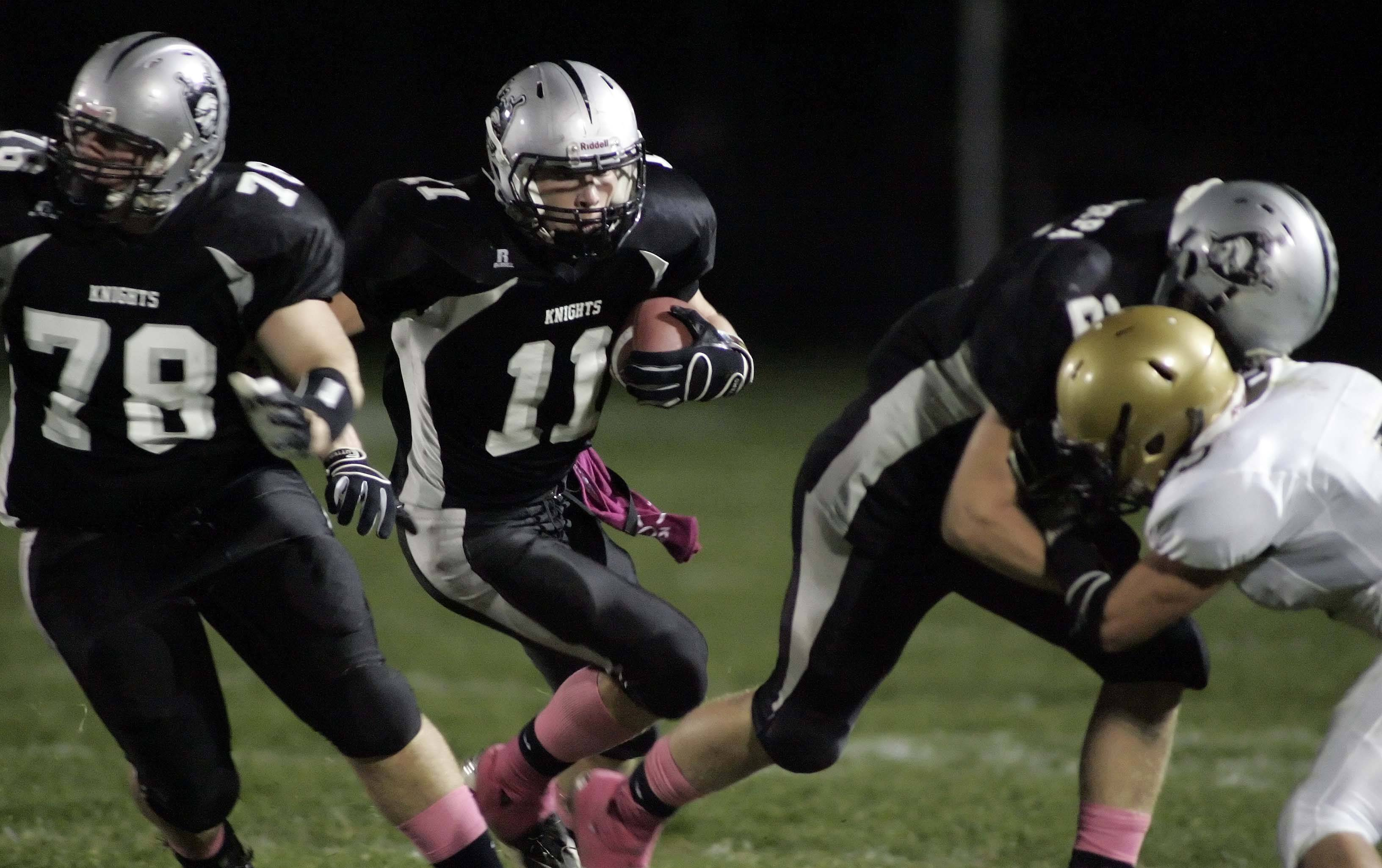 WEEK 8- Kaneland's Taylor Andrew looks for an opening.