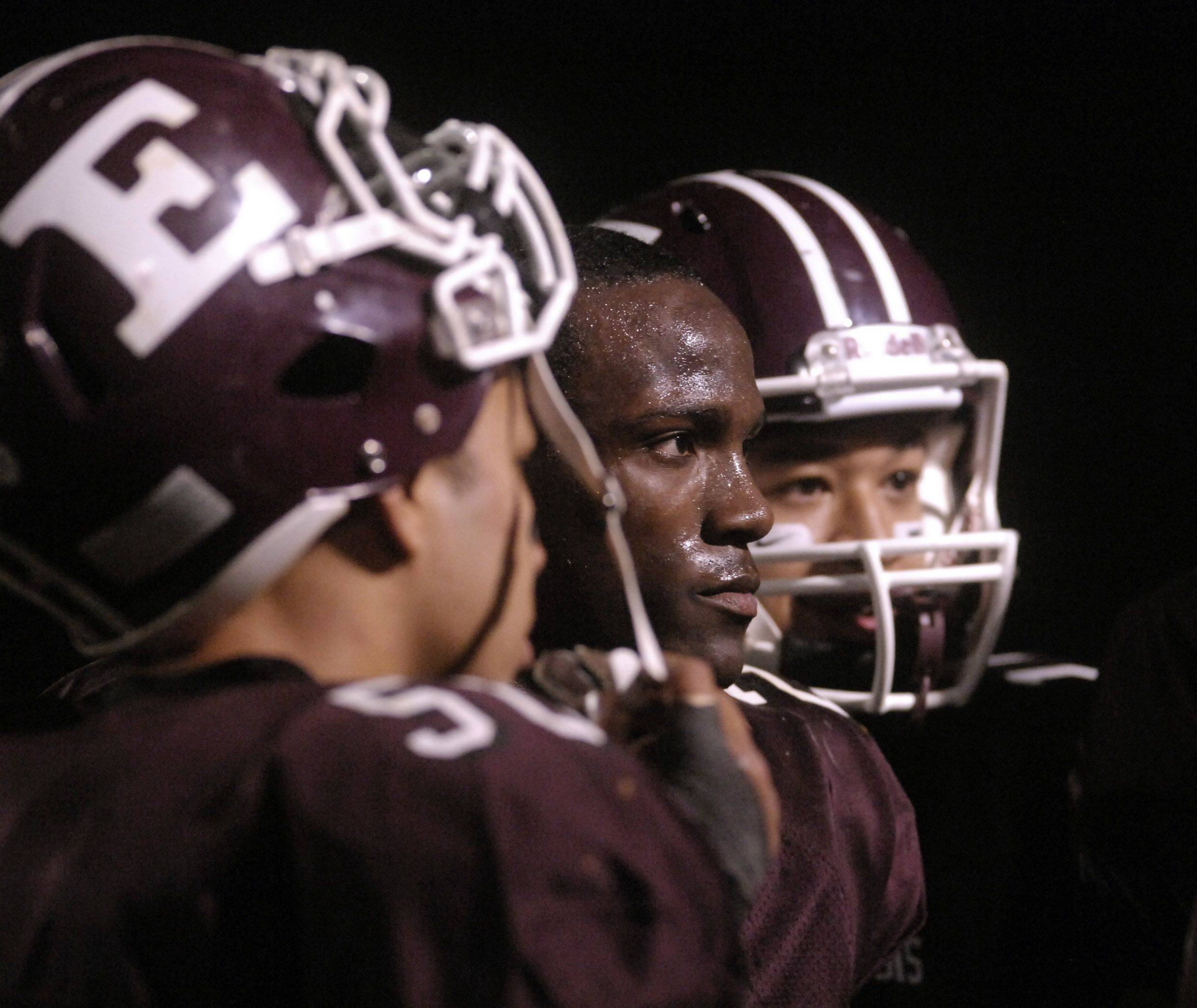 WEEK 9- Dennis Moore, center, and his Elgin teammates are headed back to the playoffs for the first time since 2001.
