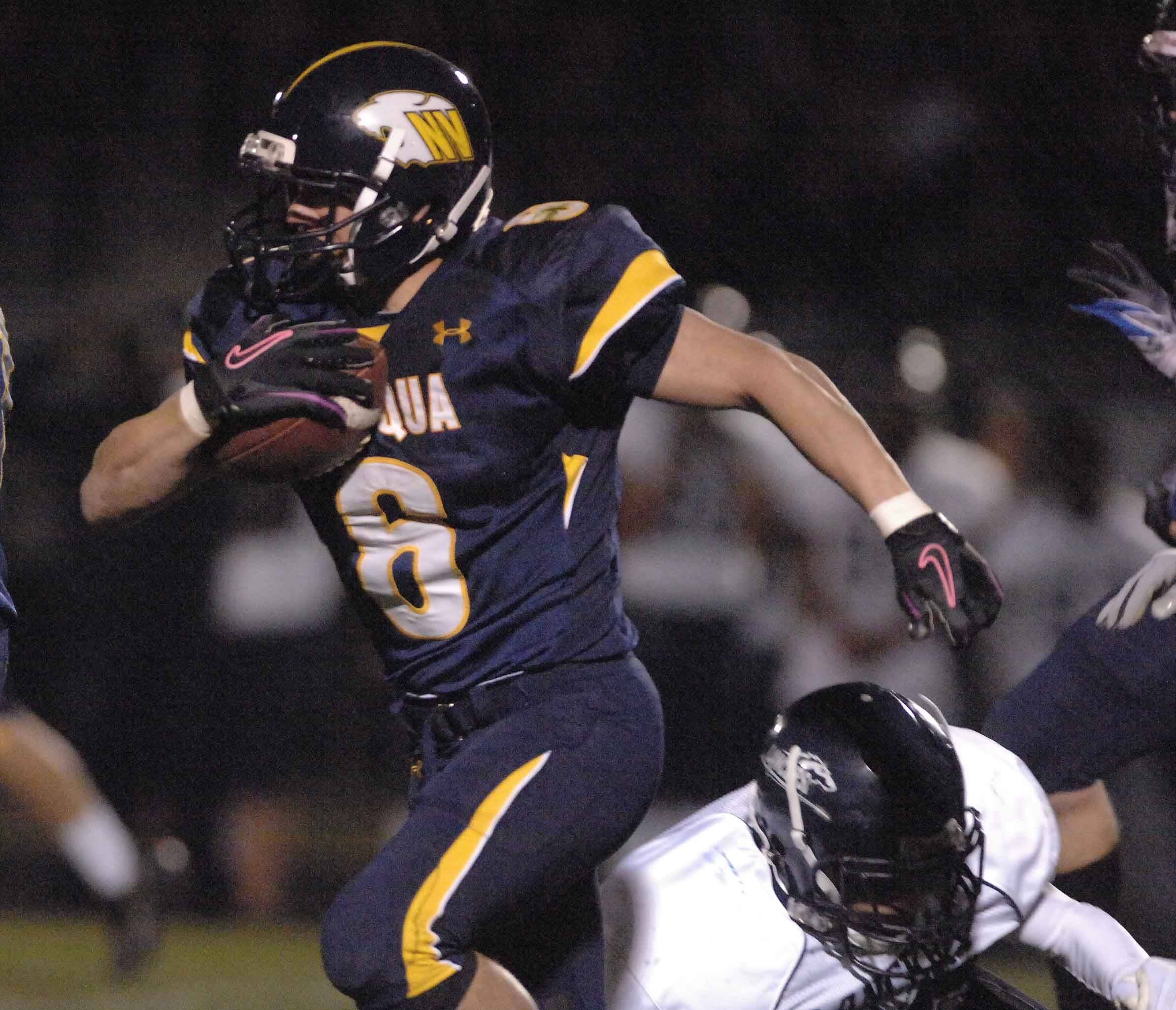 WEEK 9- Trent Snyder of Neuqua Valley runs the ball.