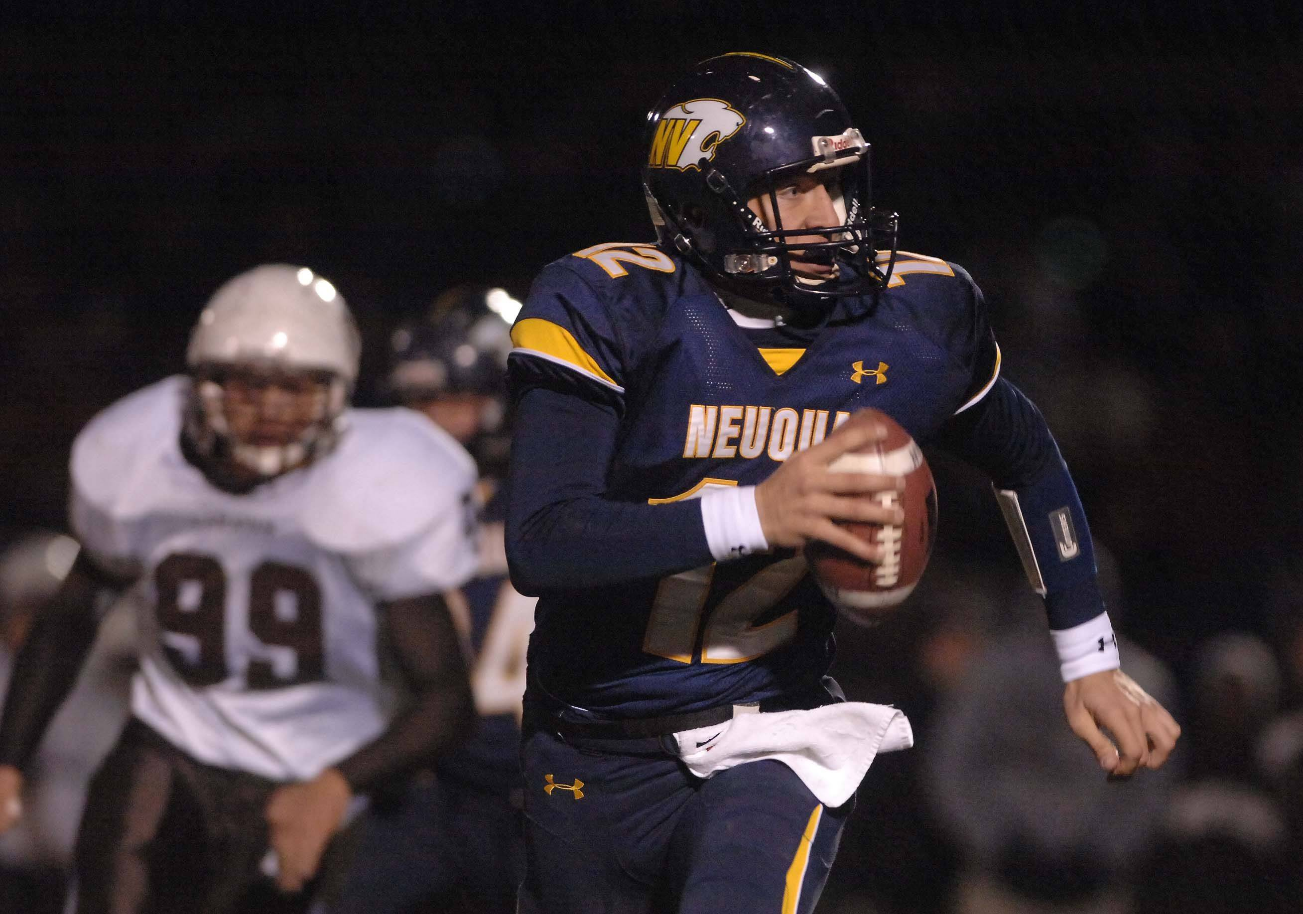Jeff Samuel of Neuqua Valley looks for an open receiver.