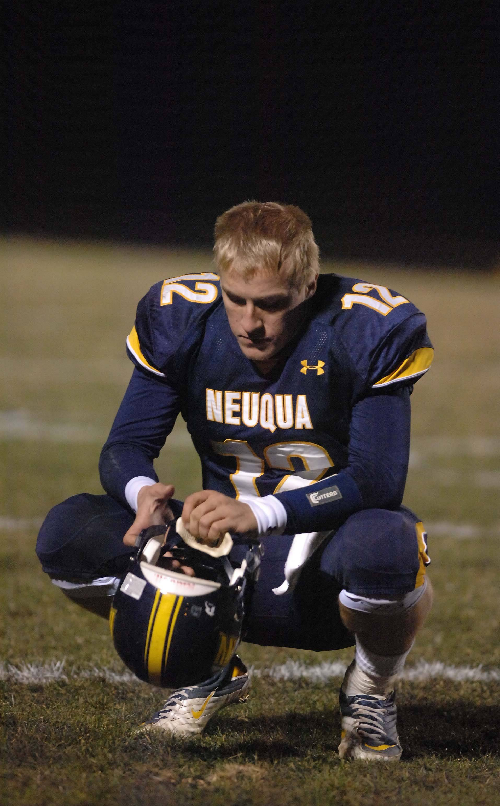 Jeff Samuel of Neuqua Valley reflects on a loss to Mt. Carmel in overtime.