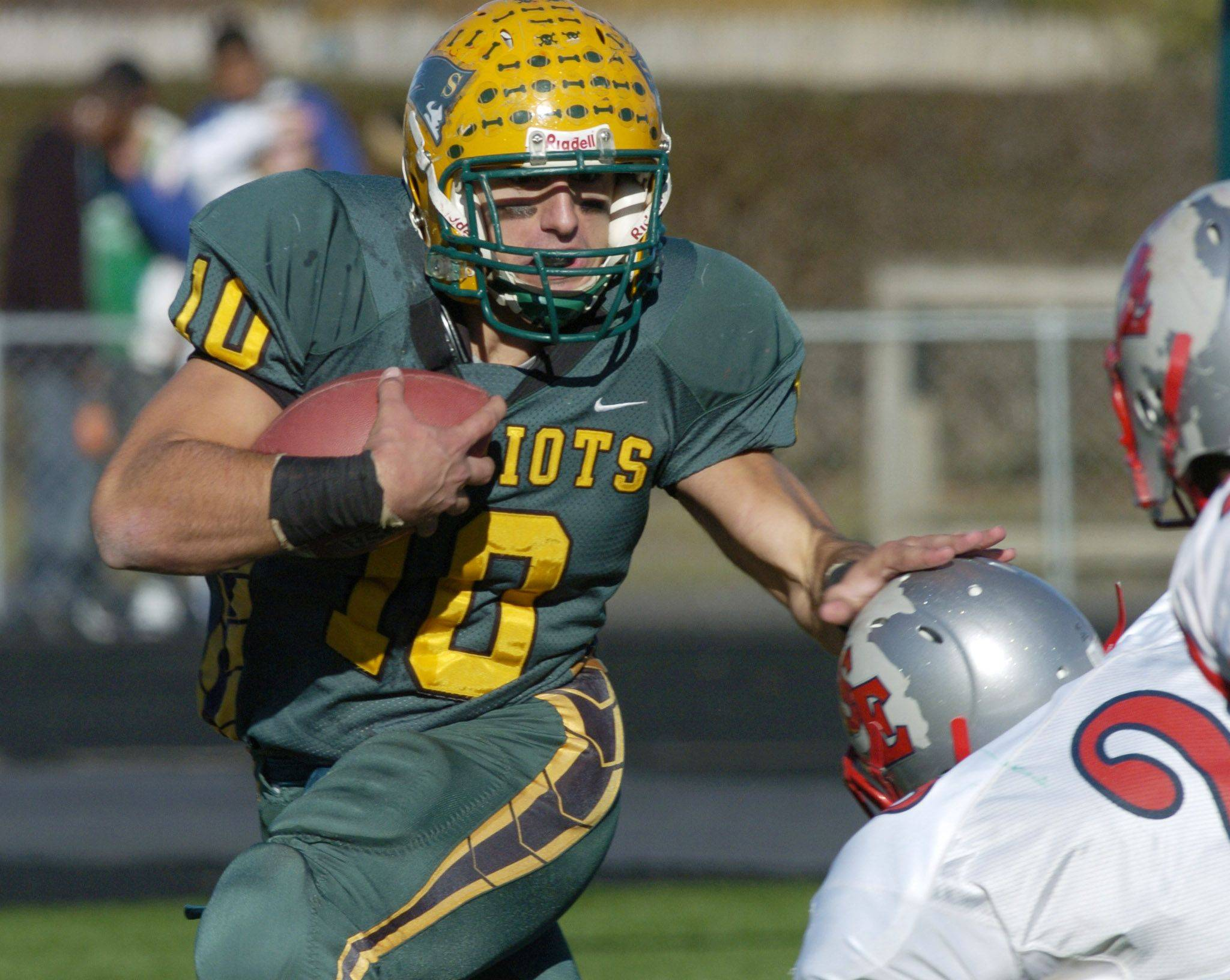 Stevenson's Joseph Cassata carries the ball against South Elgin Saturday.