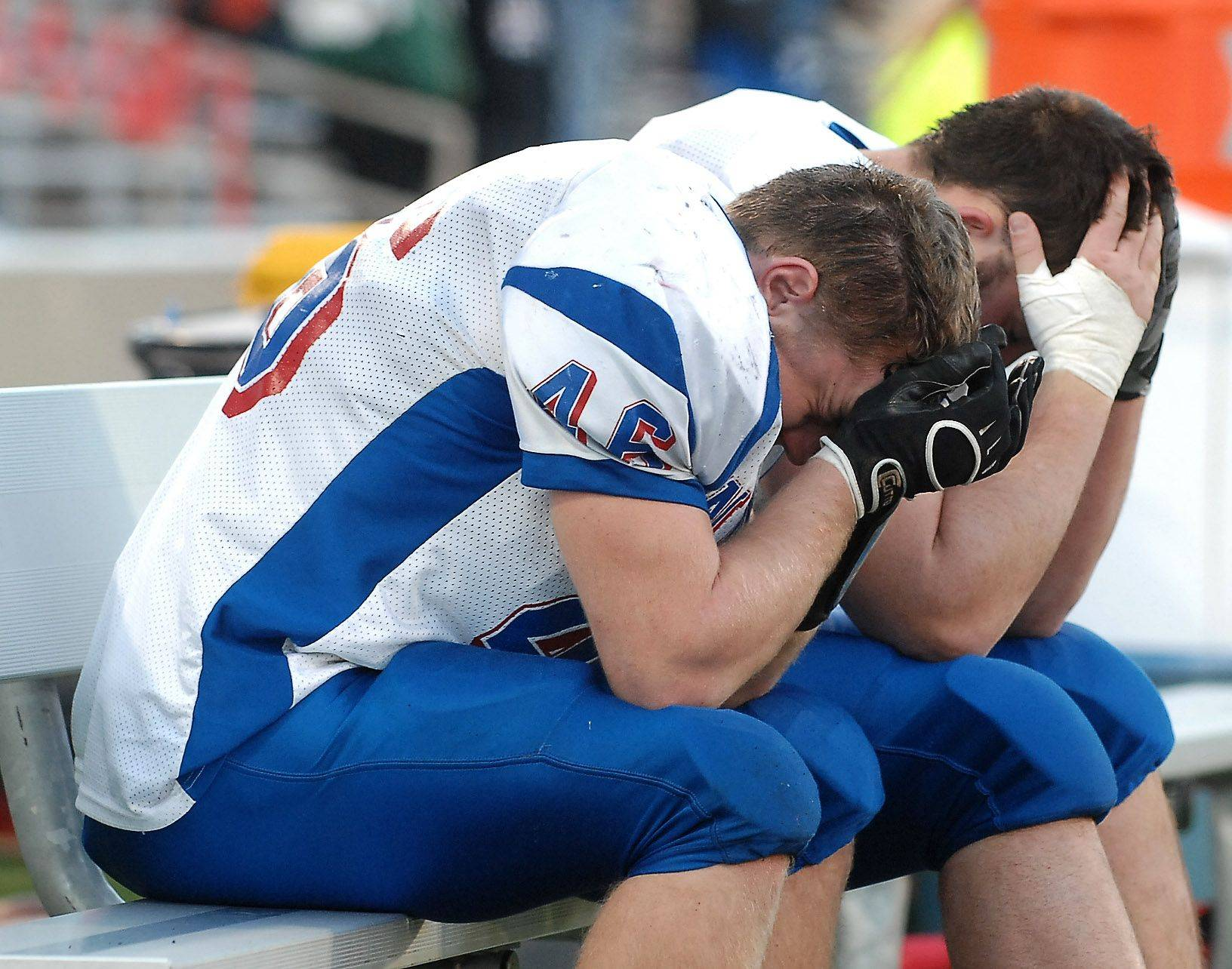 Marmion Rockford Boylan during the Class 6A state final in Champaign Saturday.