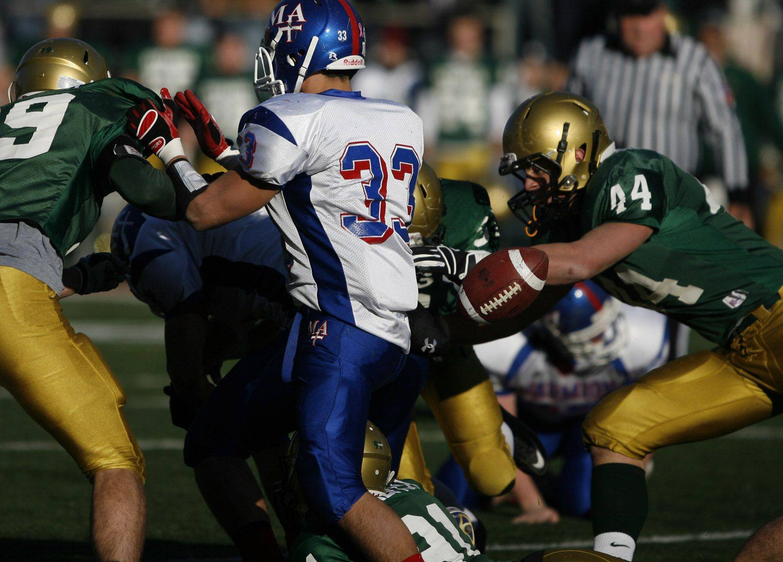 Images from the 6A state title game between Marmion Academy and Rockford Boylan Saturday, November 27, 2010.