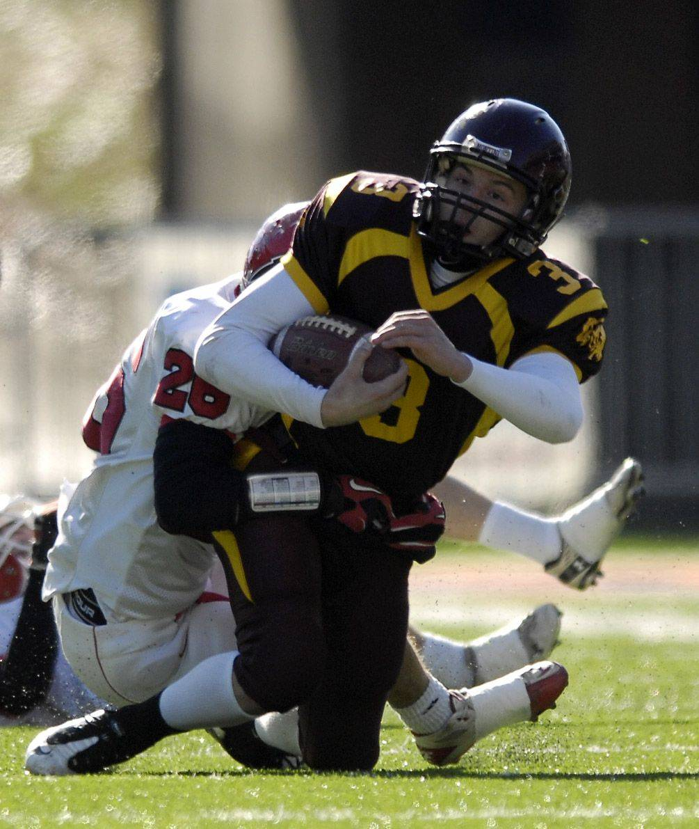 Images from the 5A state title game between Montini and Chatham Glenwood Saturday, November 27, 2010.