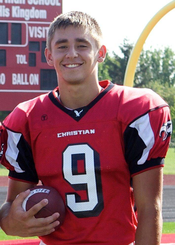 Anthony Maddie, Aurora Christian all-area football player