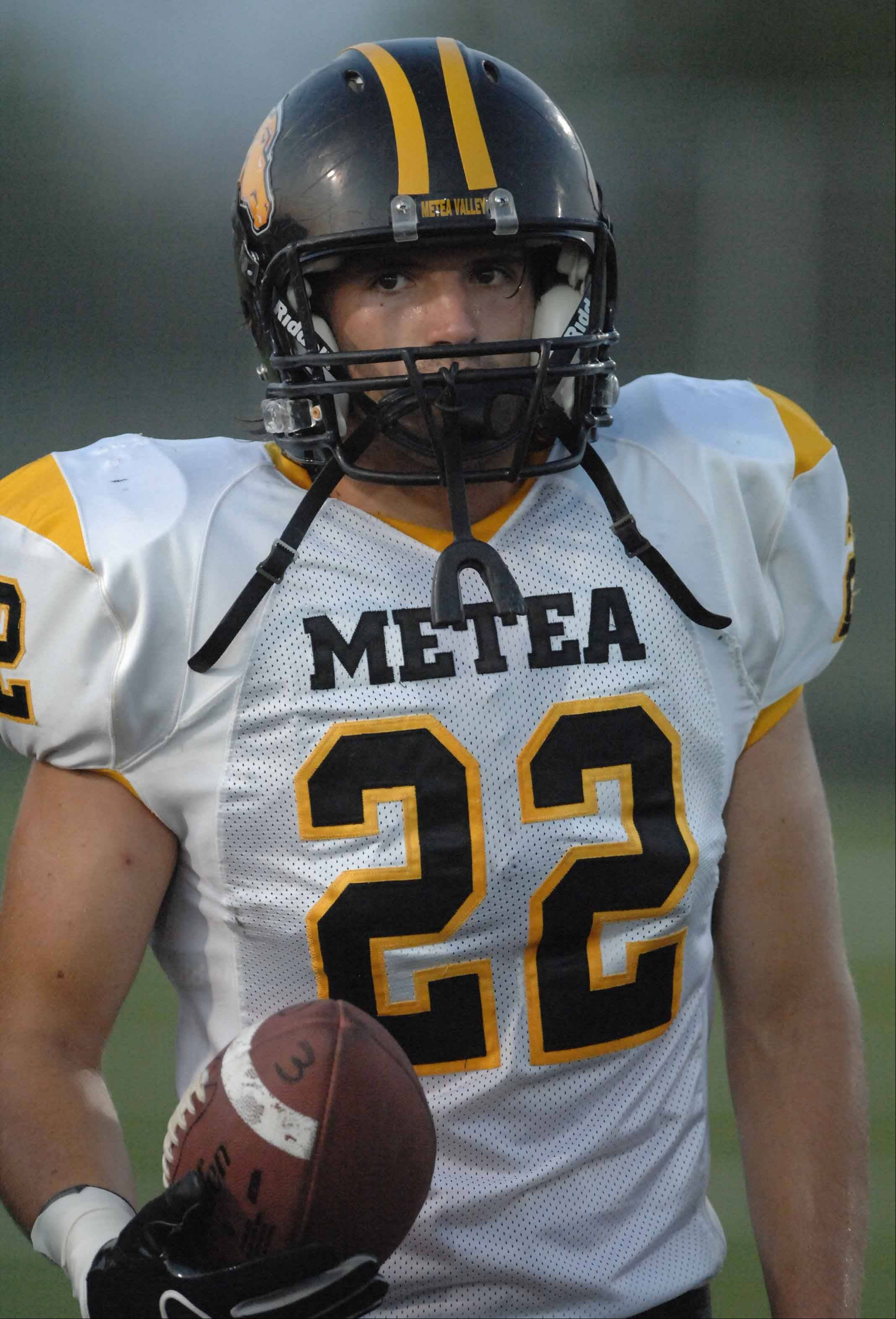 Zach Wood during the Metea scrimmage Friday.