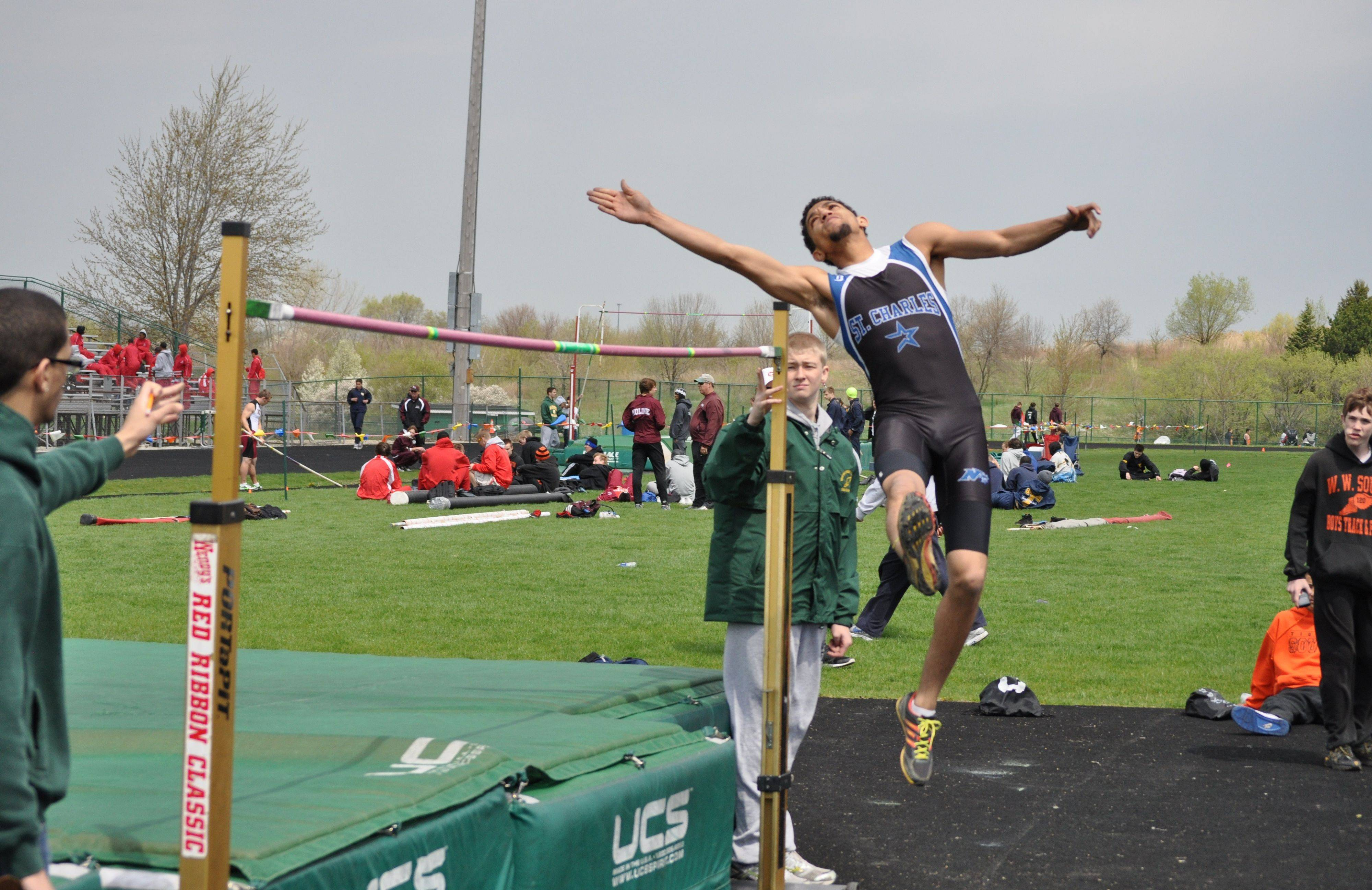 St. Charles North senior Oshay Hodges spent his summer excelling in high jump competitions, which he hopes will help him this fall as a North Star wide receiver.
