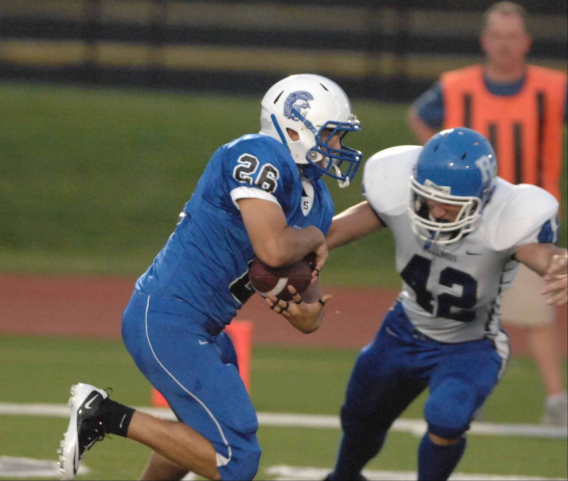 Week 1- Jack Petrando of St. Francis moves the ball against Riverside-Brookfield.
