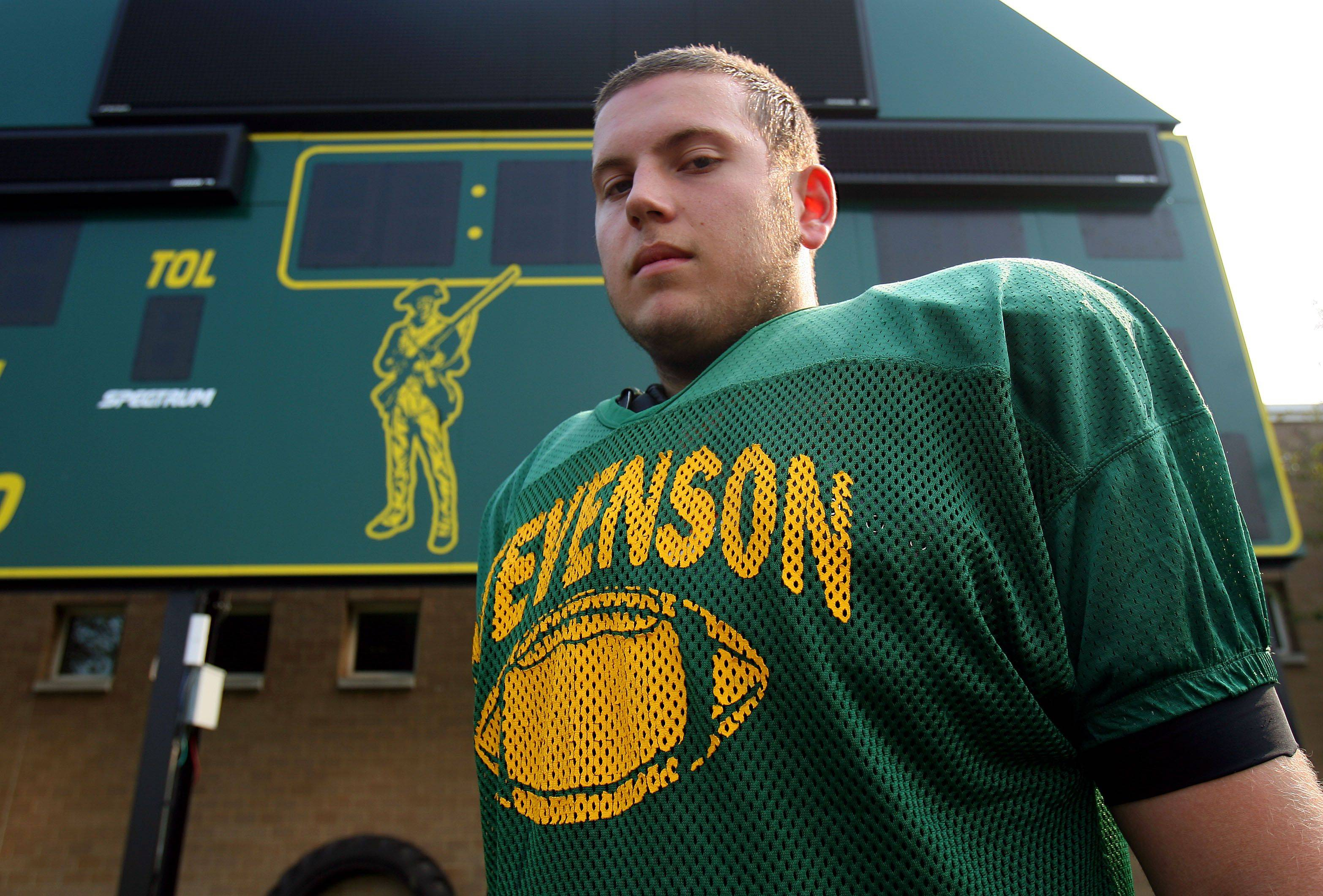 Stevenson senior offensive tackle Jake Hurcombe has committed to Eastern Michigan.