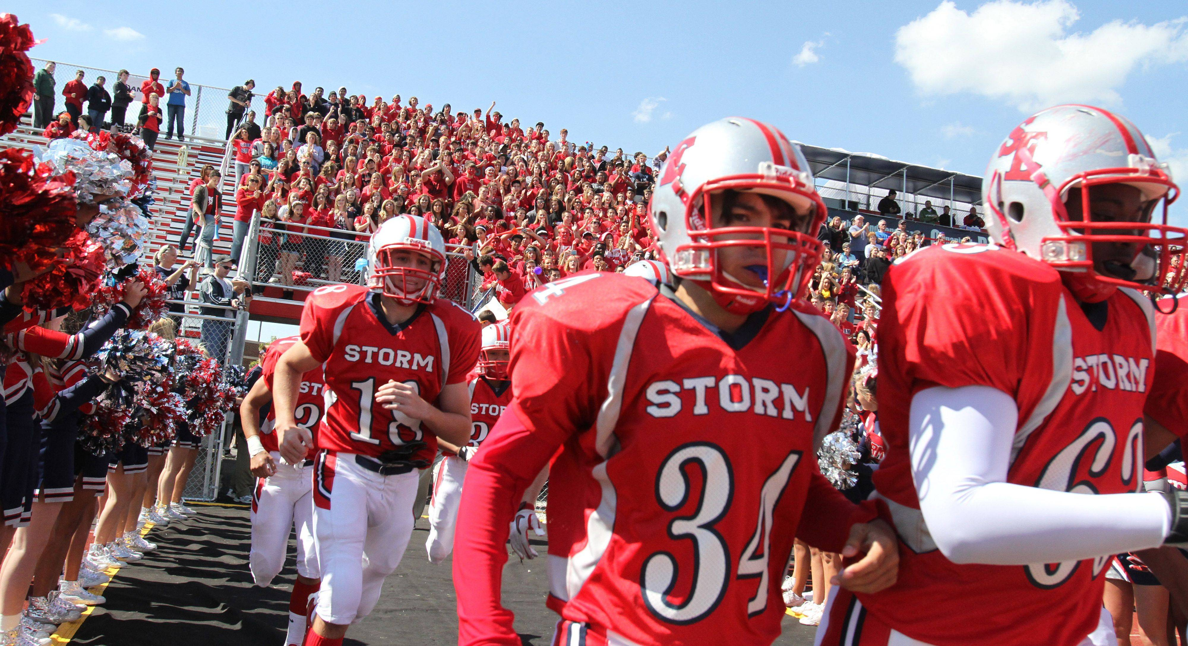 South Elgin's football team takes the field for their first true home game Saturday against Metea Valley.