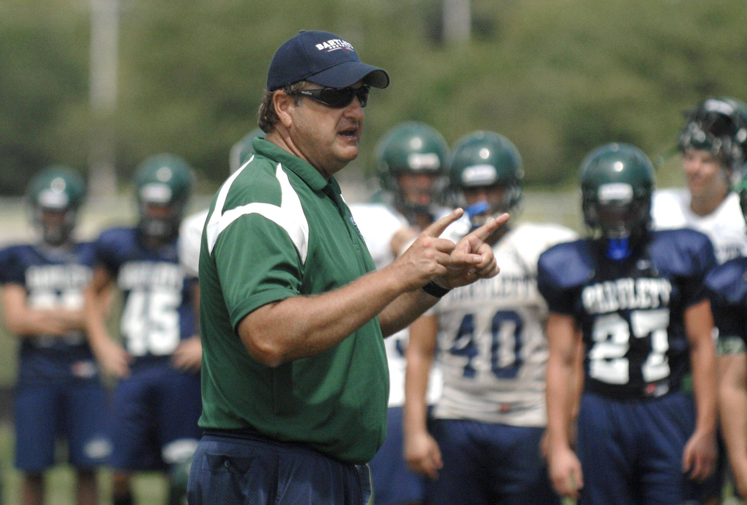 Bartlett head football coach Tom Meaney has fashioned a winning program built around hard work and consistency within the coaching staff.