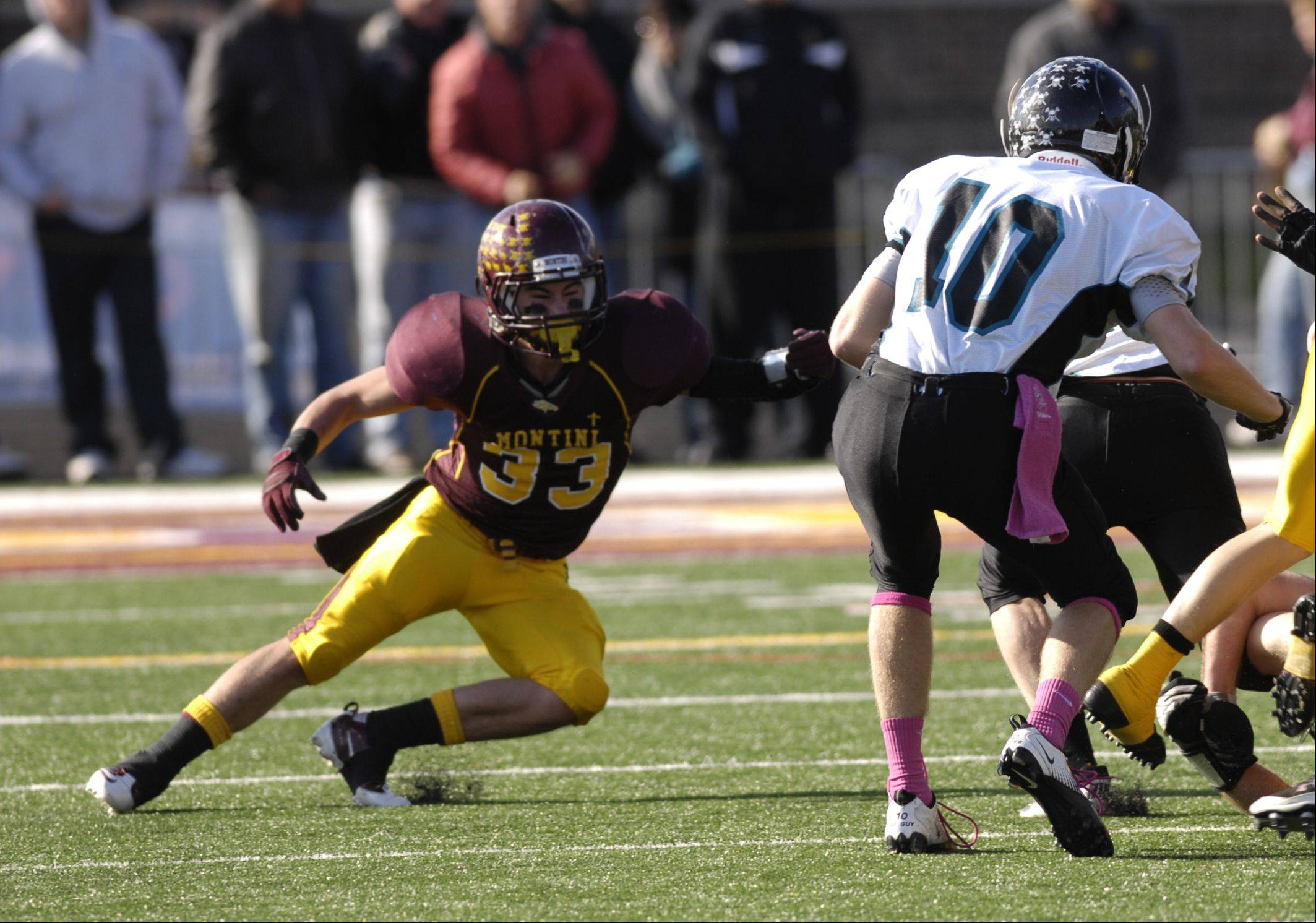 Playoffs - Round One- Woodstock North High School at Montini Catholic High School in Lombard football playoffs Saturday, October 29.