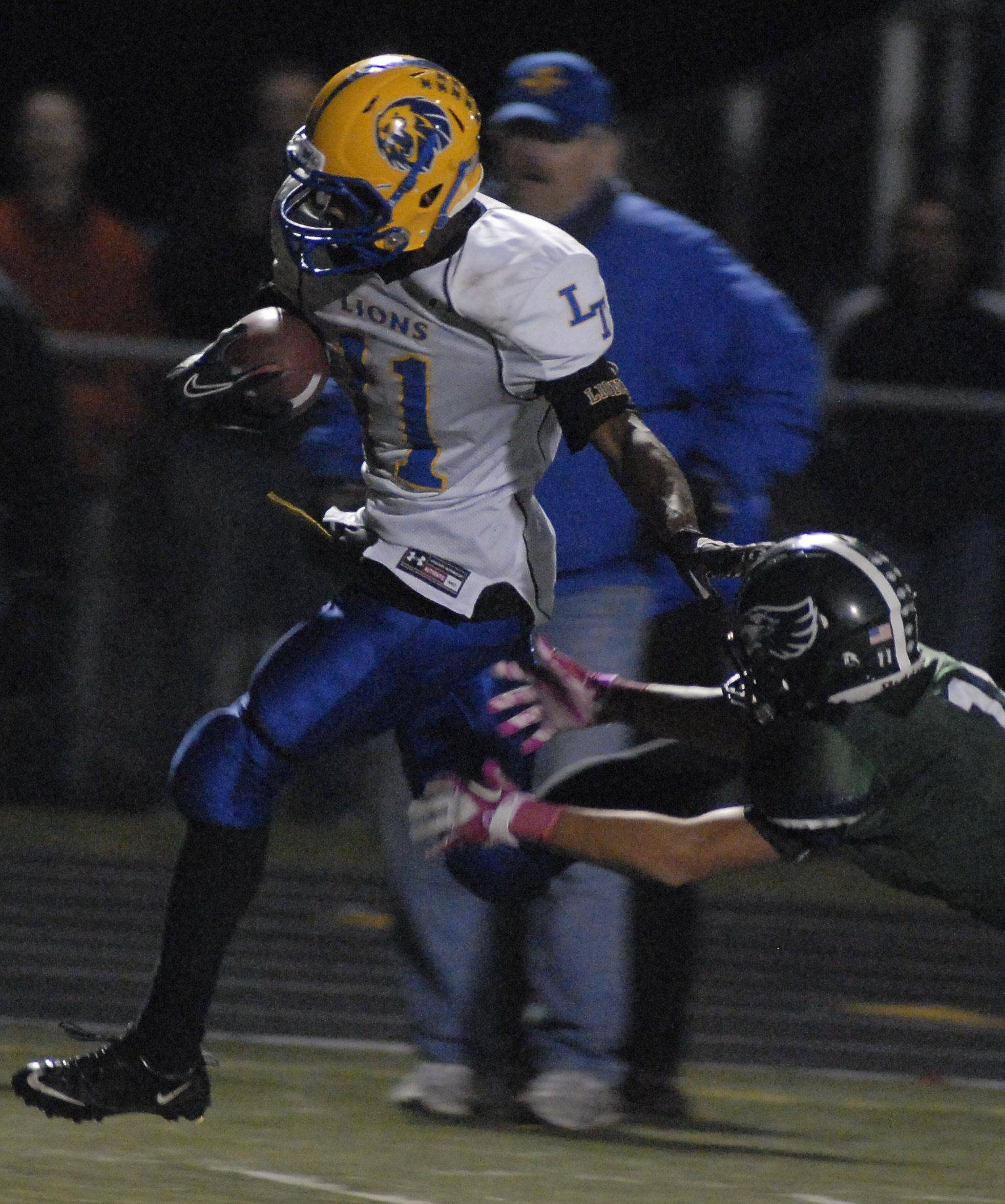 Laura Stoecker/lstoecker@dailyherald.com Playoffs - Round One - Images from Lyons Township vs. Bartlett football Saturday, October 29, 2011.