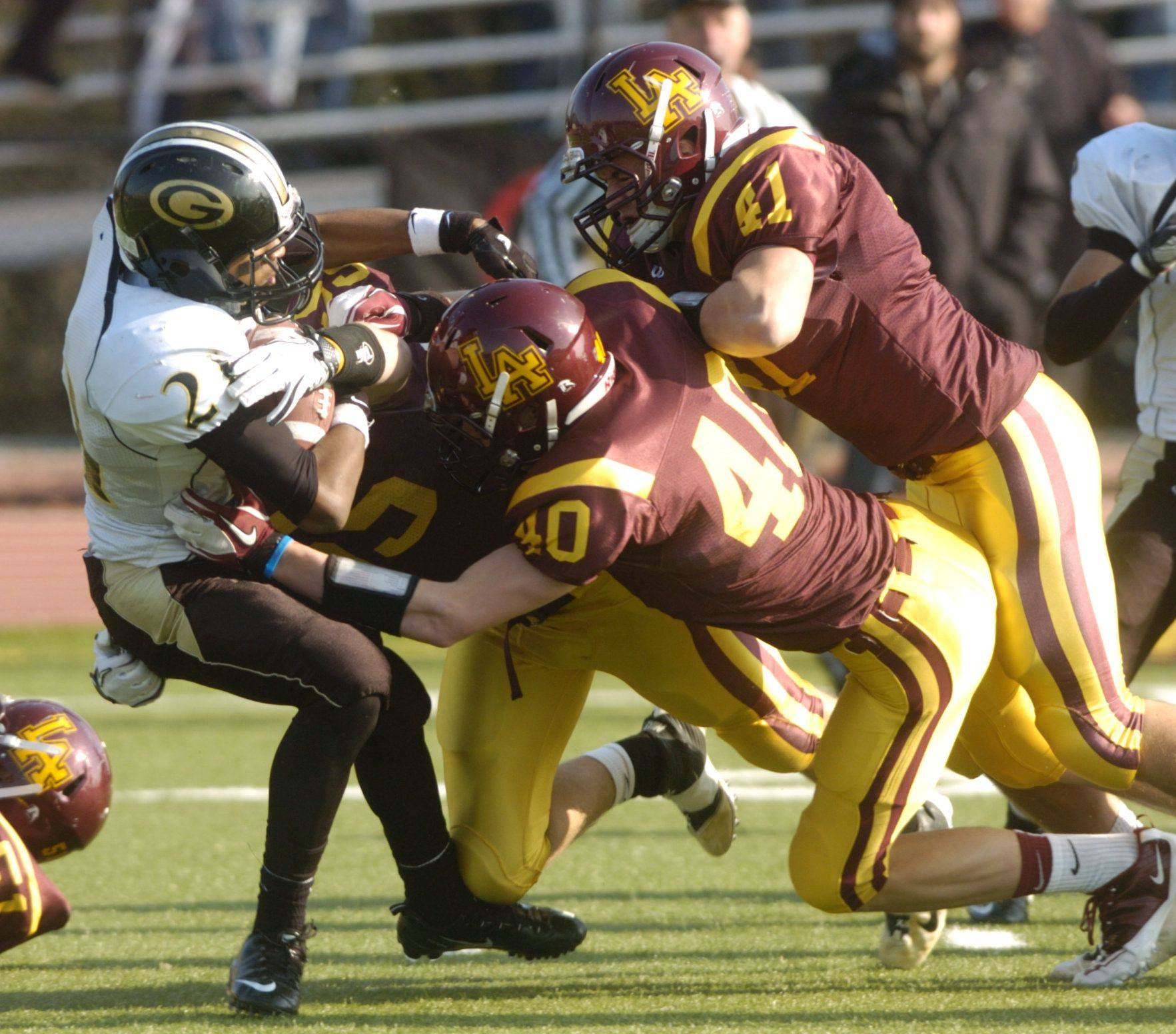 Images: Glenbard North vs. Loyola Academy for a Class 8A football semifinal game.