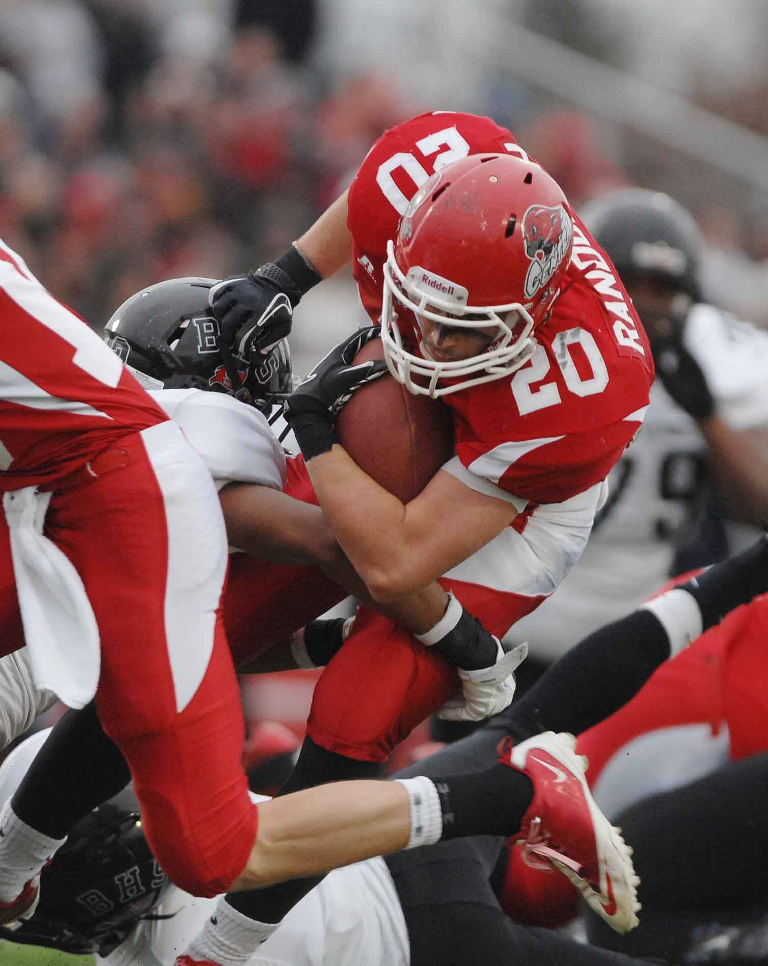 Matt Randolph of Naperville Centrak during the Bolingbrook at Naperville Central football Class 8A semifinals Saturday.