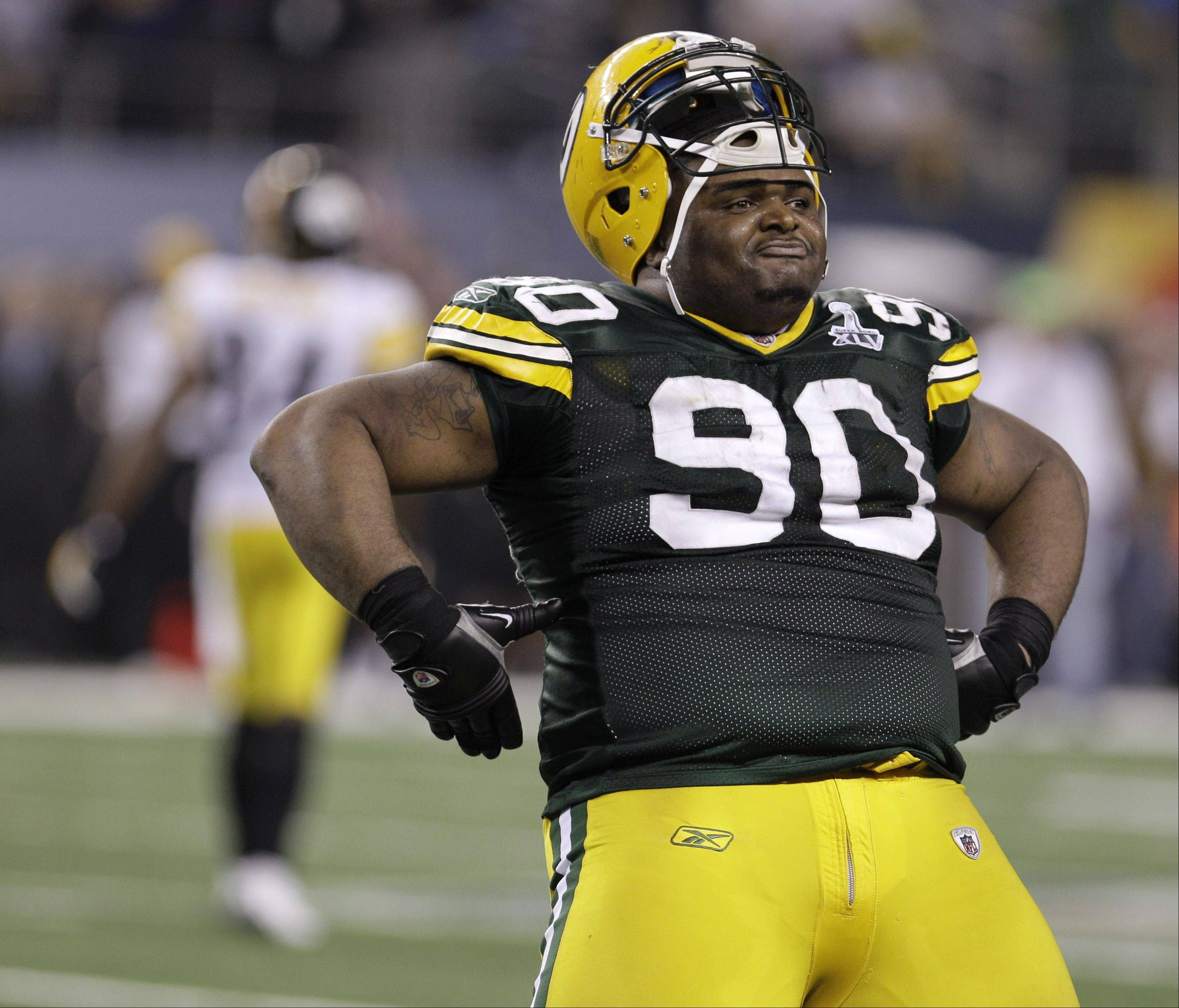 Green Bay Packers tackle B.J. Raji made a sizable comment when he stepped into the new Cowboys Stadium for the first time.