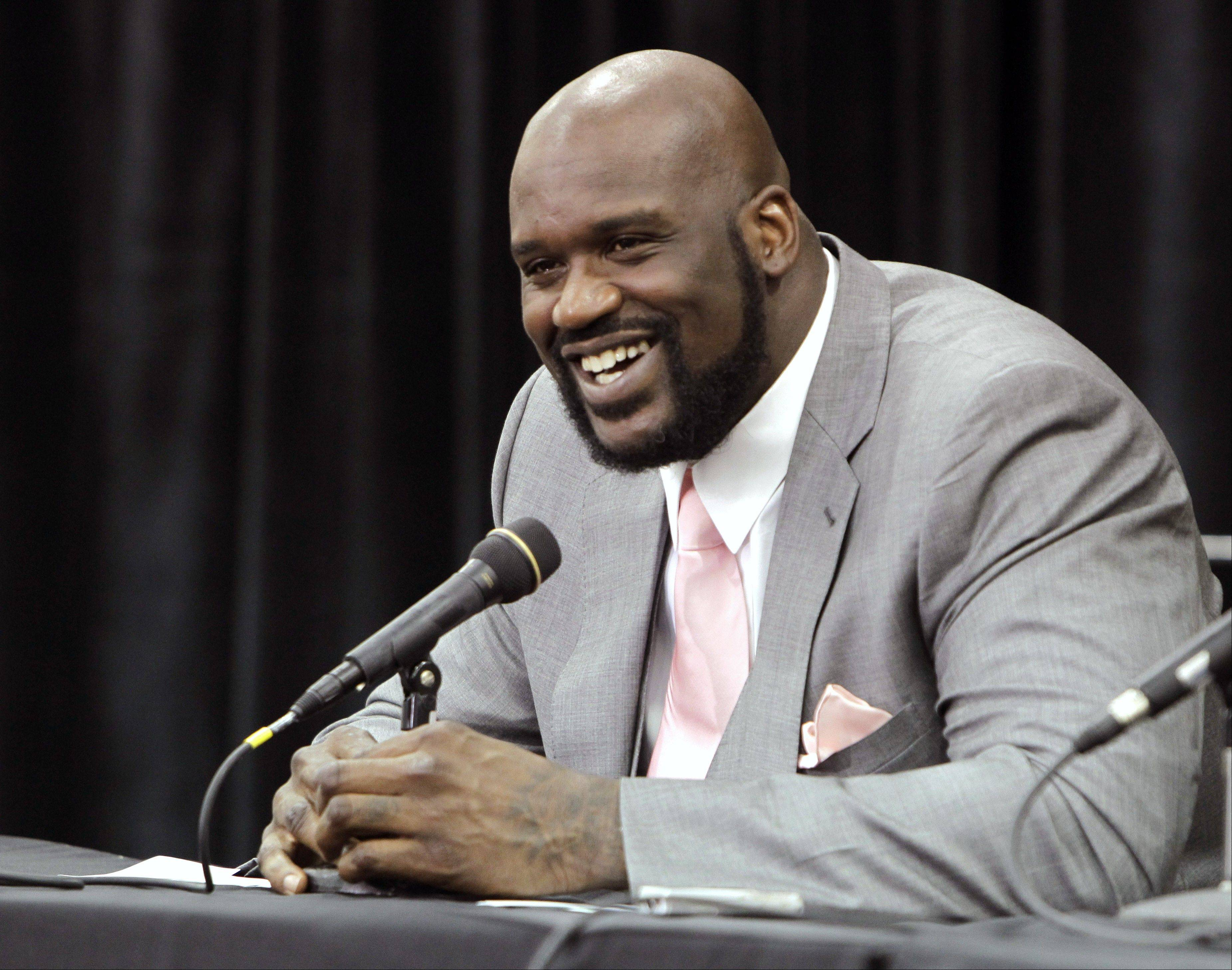 Shaquille O'Neal worked in a free throw reference to his retirement speech.