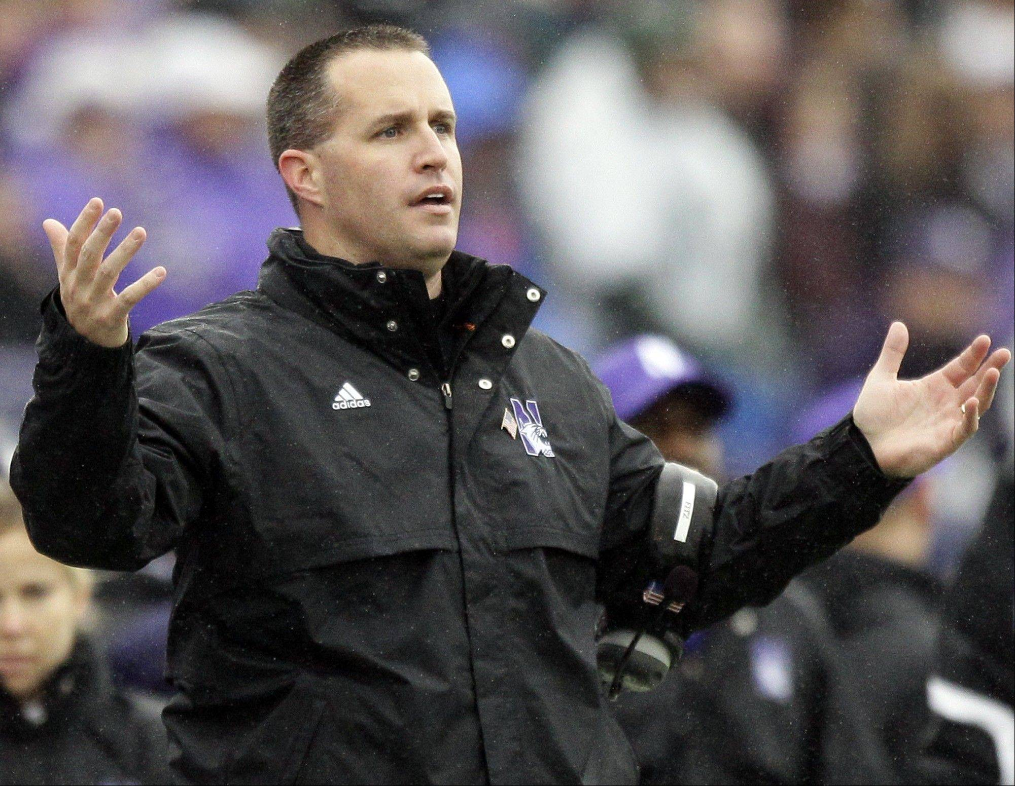 Northwestern head coach Pat Fitzgerald used a math lesson to describe his team's situation in 2011.
