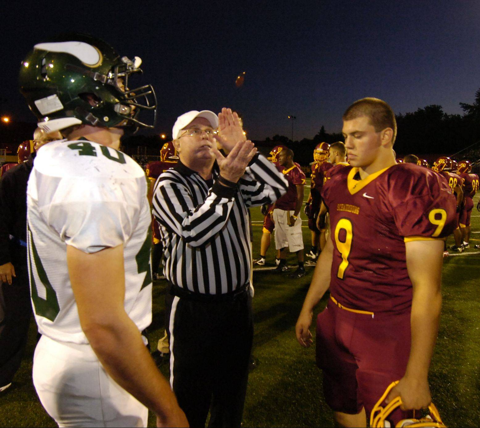 Josh Marchok, right, was a key to Schaumburg's football success.