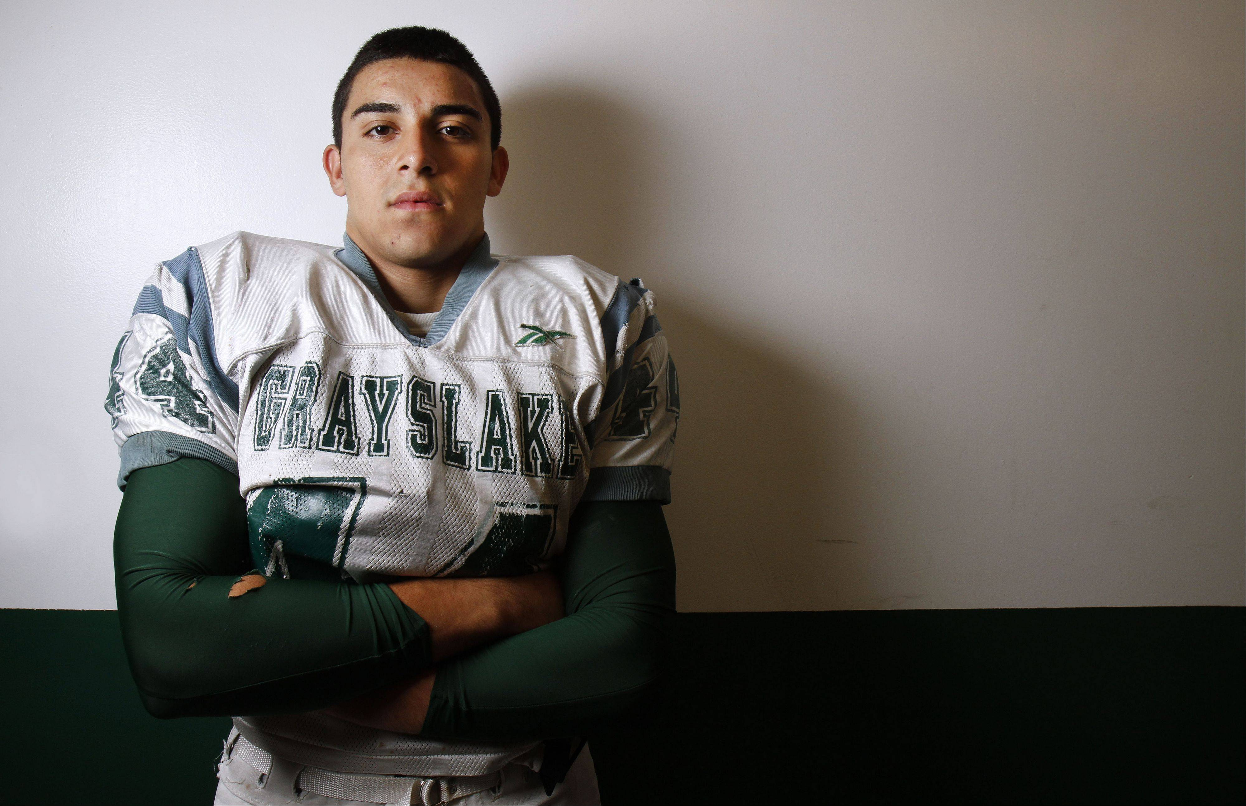 Grayslake Central's Joey Valdivia was a rare standout in three sports -- football, wrestling and track and field. Rarer still, in his senior year he earned all-state accolades in each sport.