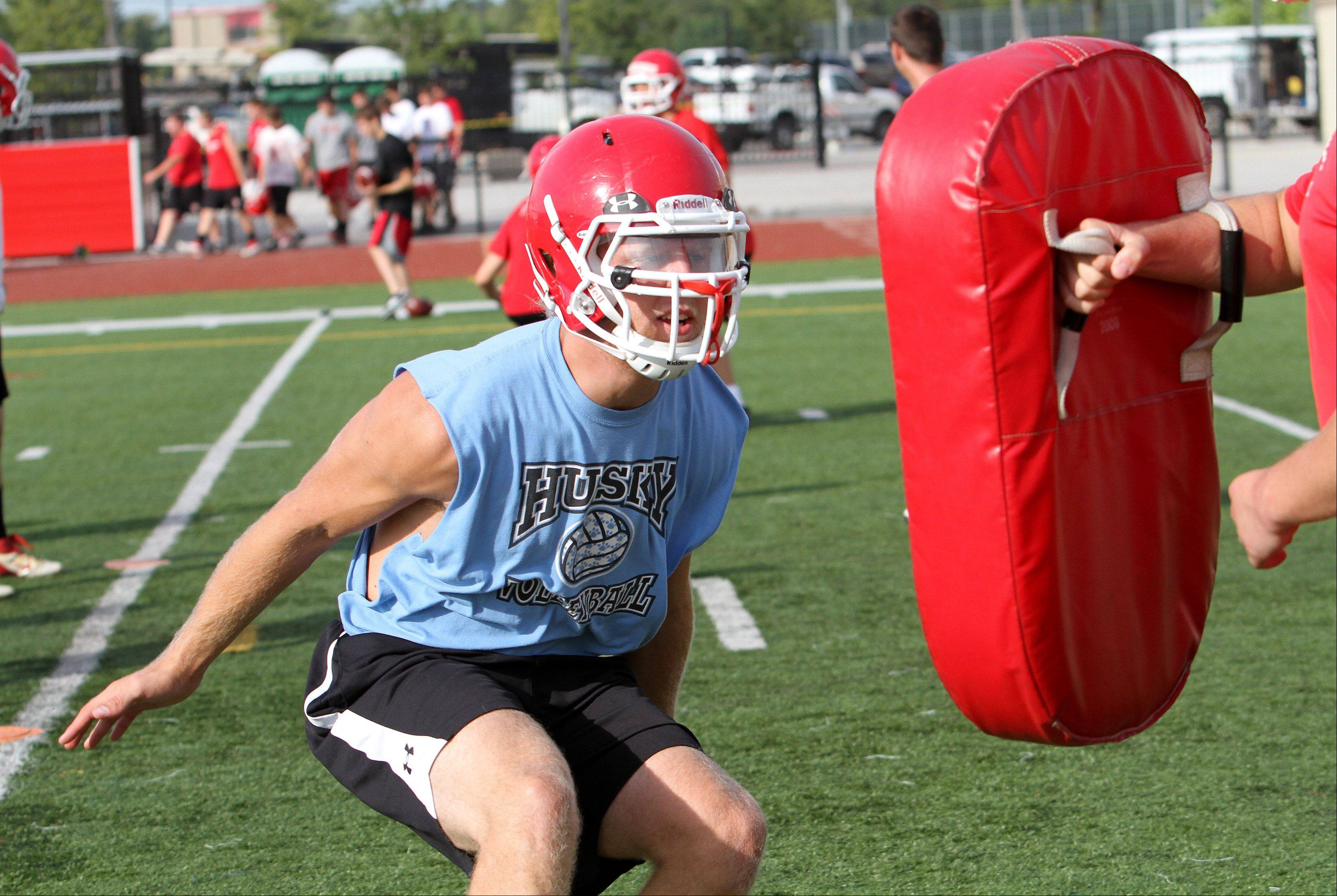 Cody Campbell practices at Naperville Central High School on Wednesday.