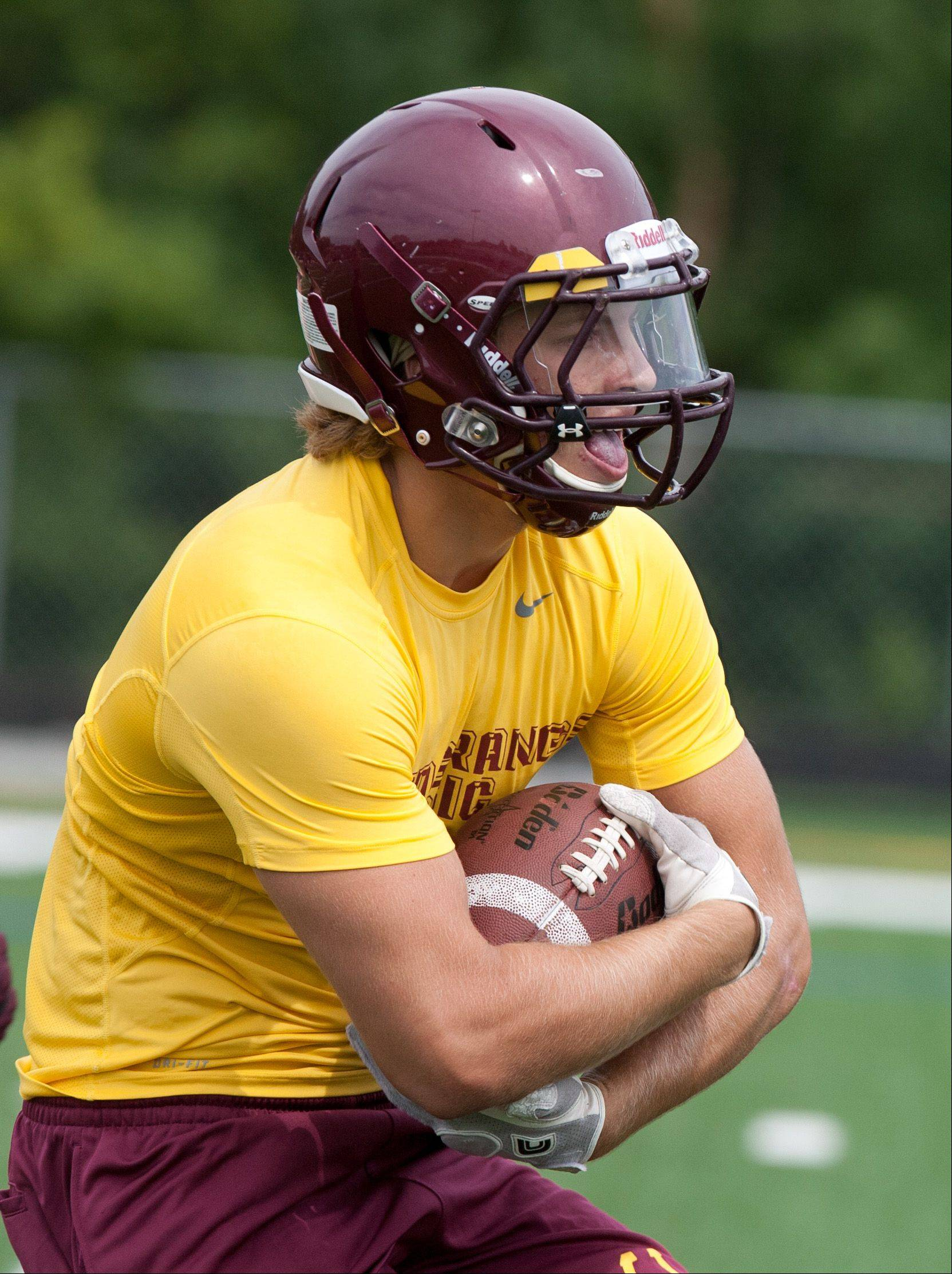 Montini Catholic's Joey Borsellino practices.