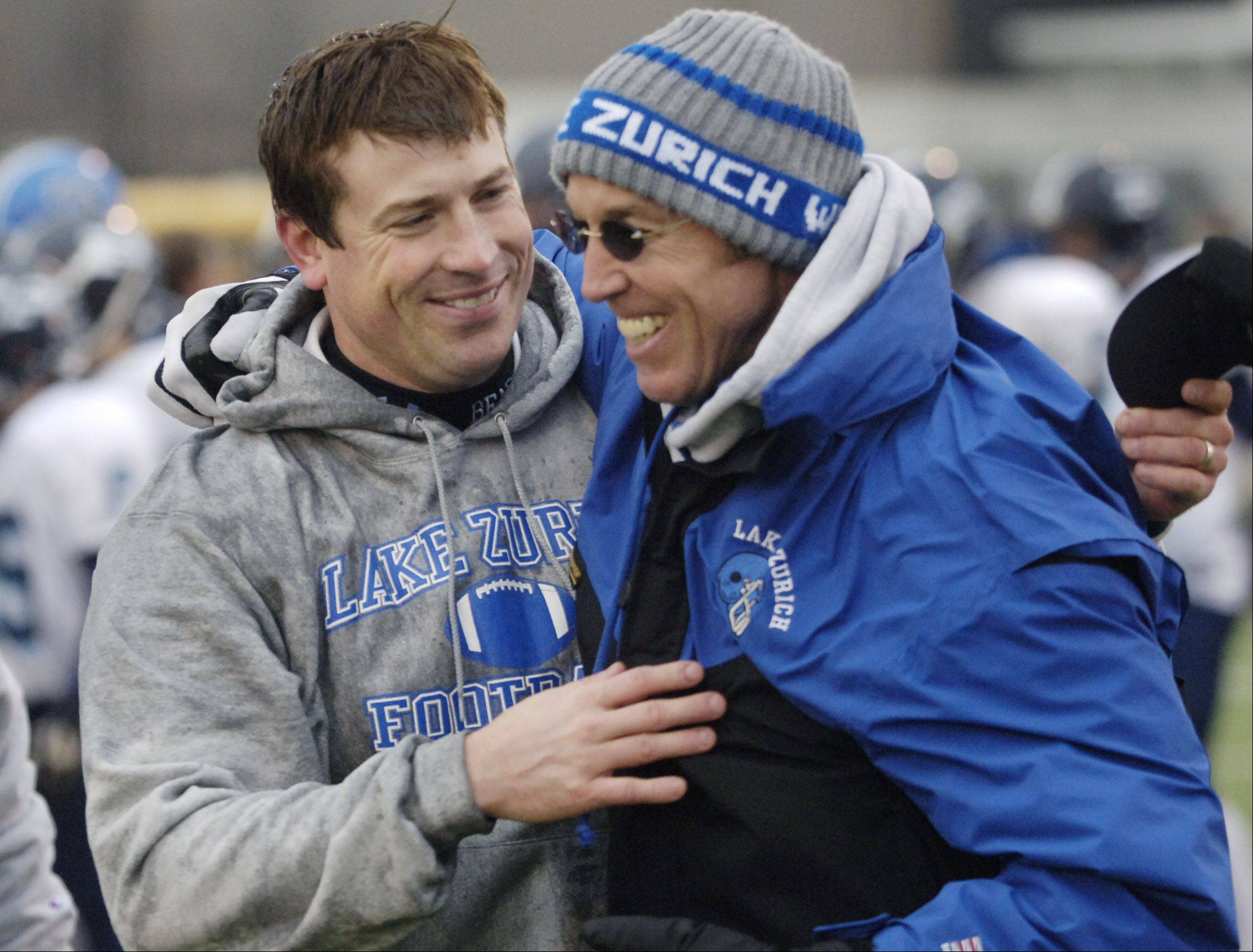 Bryan Stortz, left, is out, and Dave Proffitt is in as Lake Zurich's head coach.