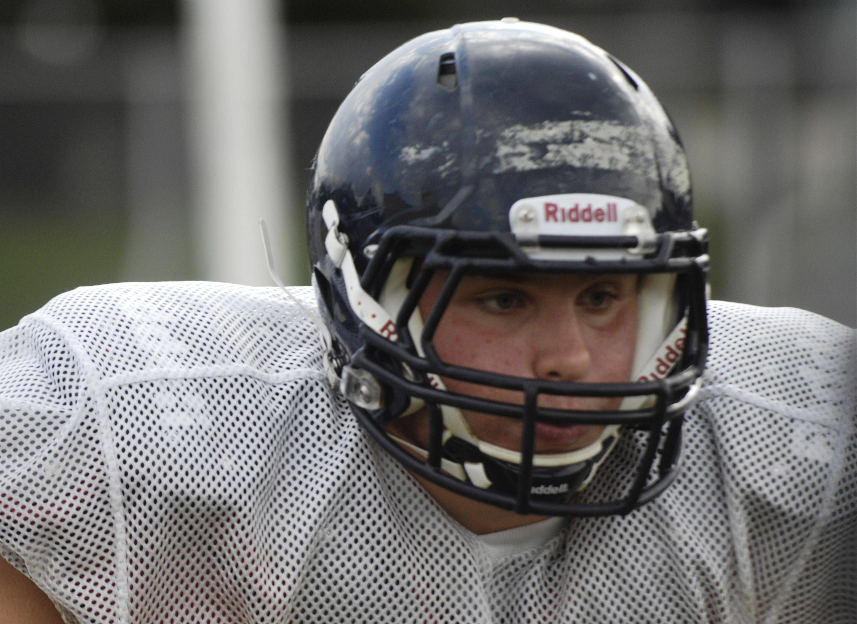 Leyden senior middle linebacker Adam Morrison returns from one of the area's top defenses.
