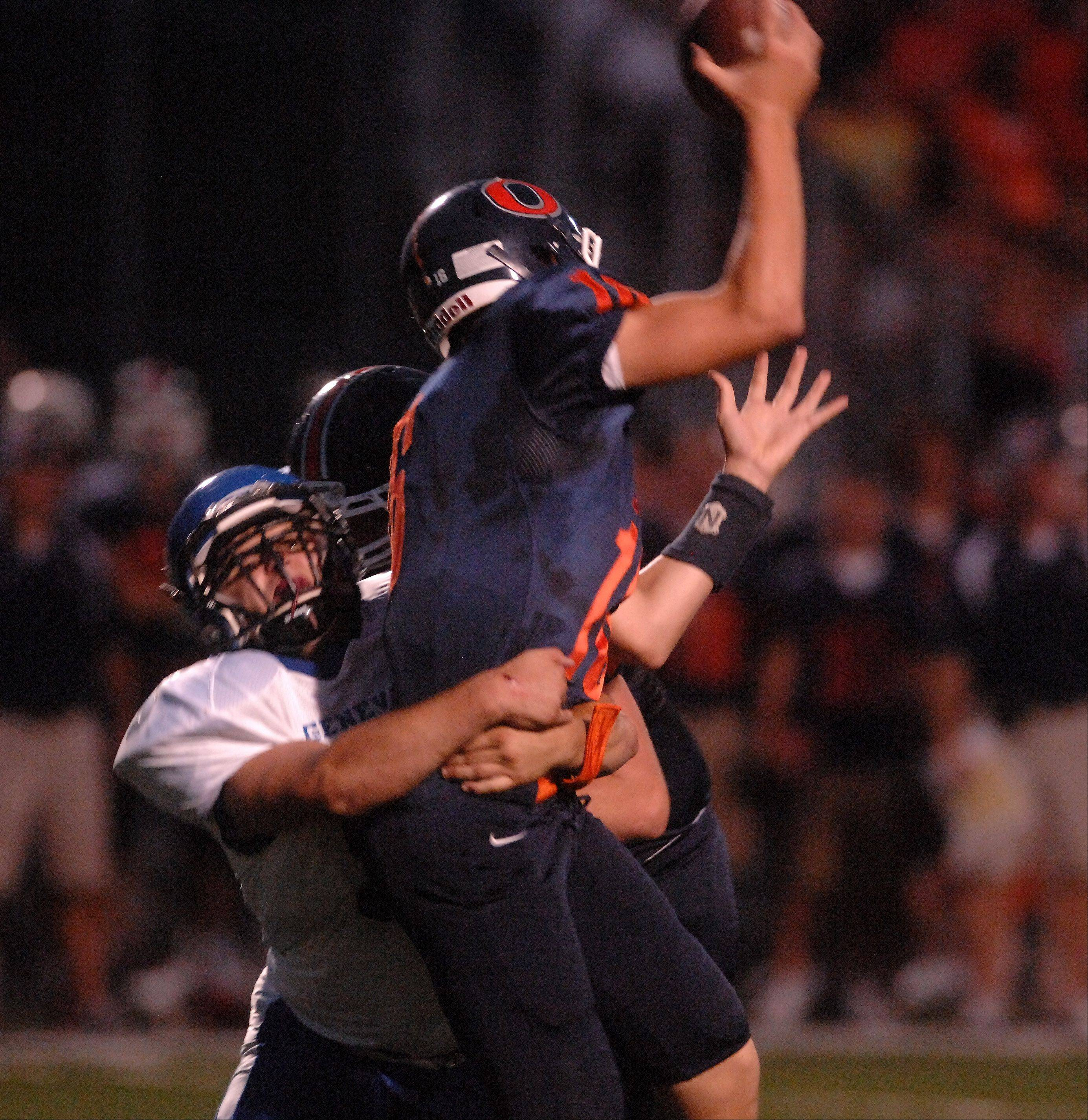 Week 1- Photos from the Oswego vs. Geneva football game Friday, August 24, 2012.