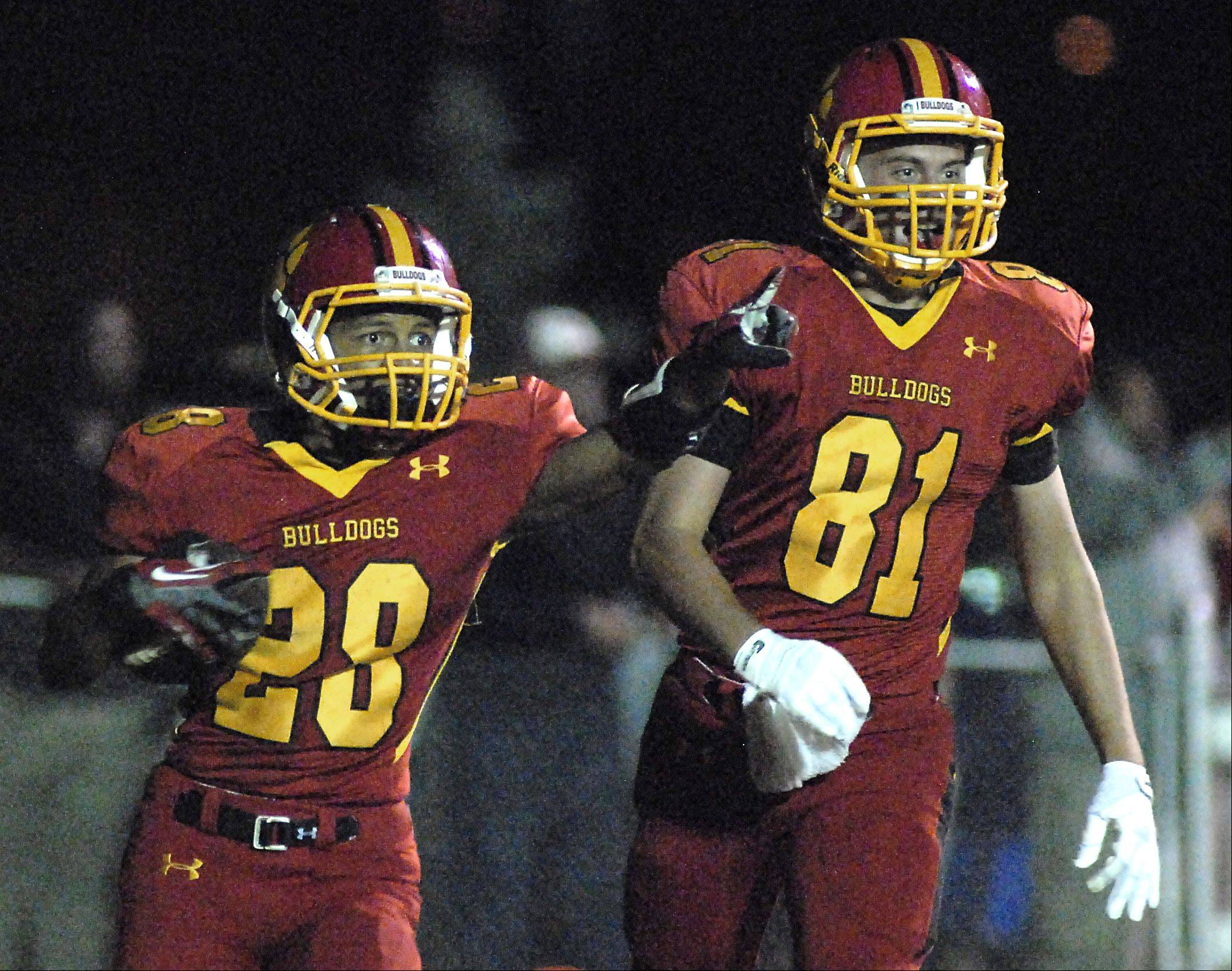 Batavia's Anthony Scaccia is denied a touchdown in the second quarter on a holding call.