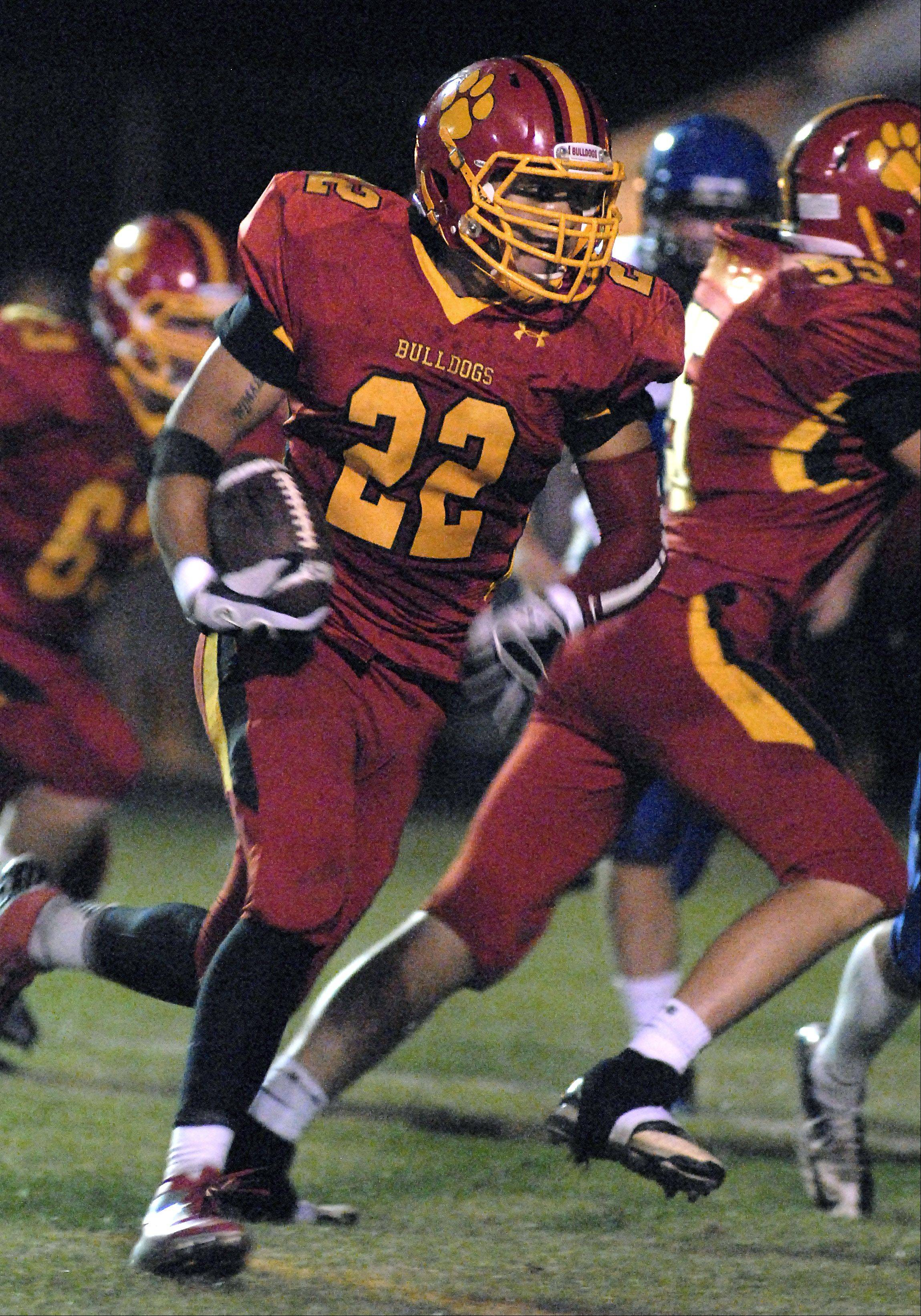 Batavia's Anthony Thielk makes a run for the end zone in the second quarter.