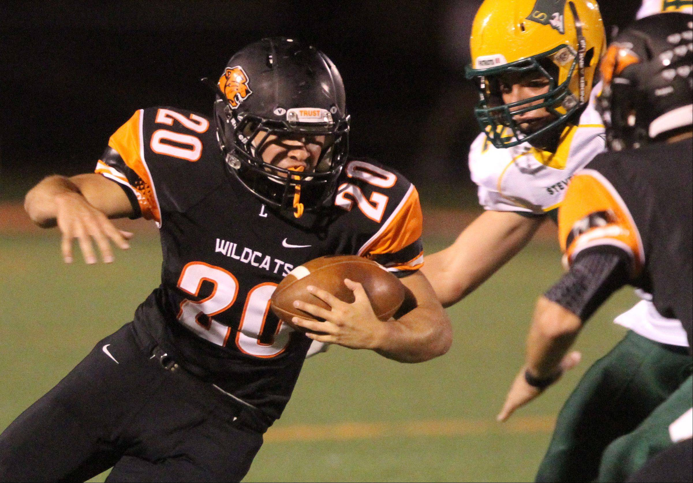 Libertyville running-back Brian Swift runs the ball against Stevenson.