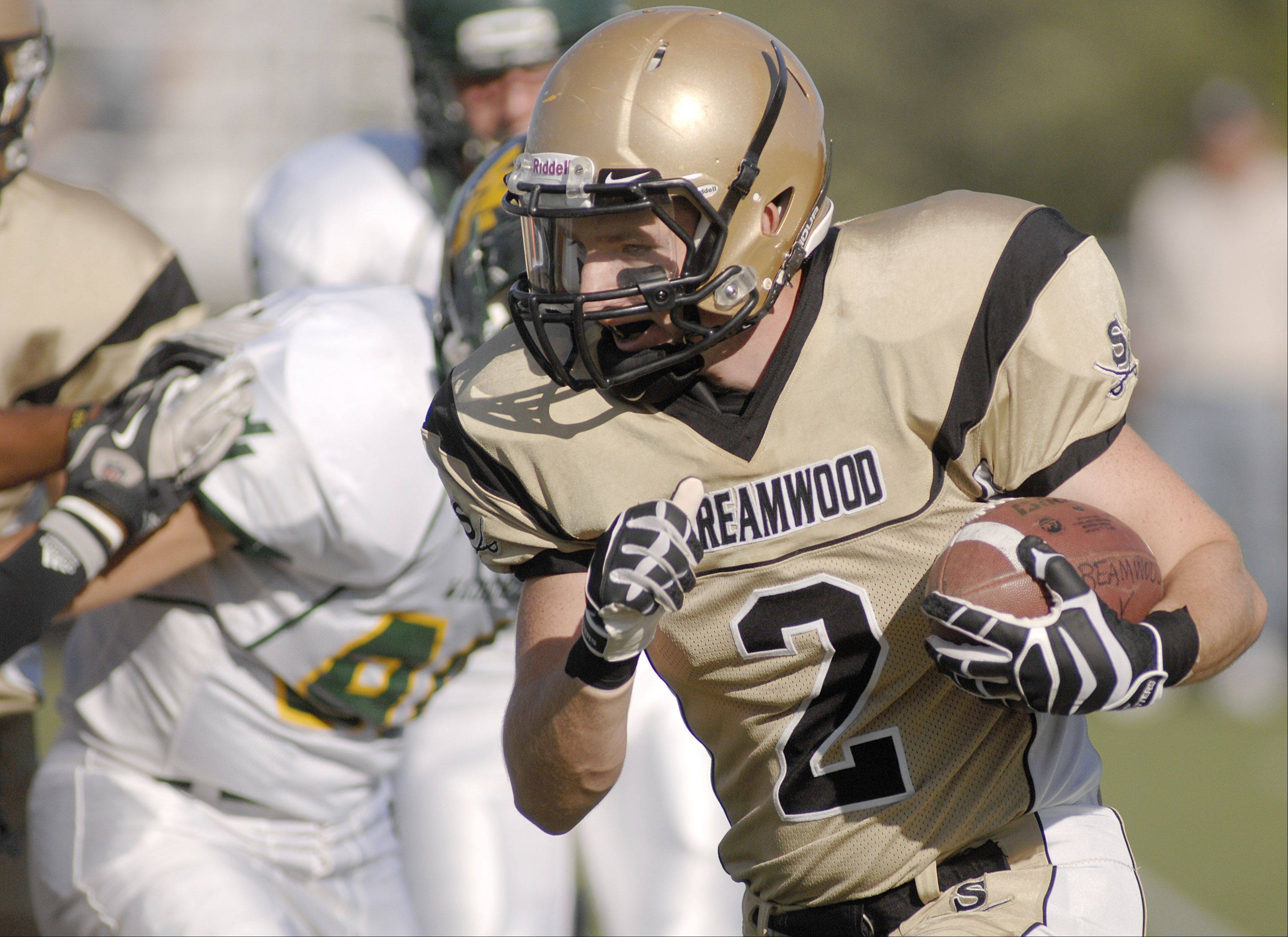 Streamwood's Tyler Hendershot in the first quarter on Saturday, September 8.