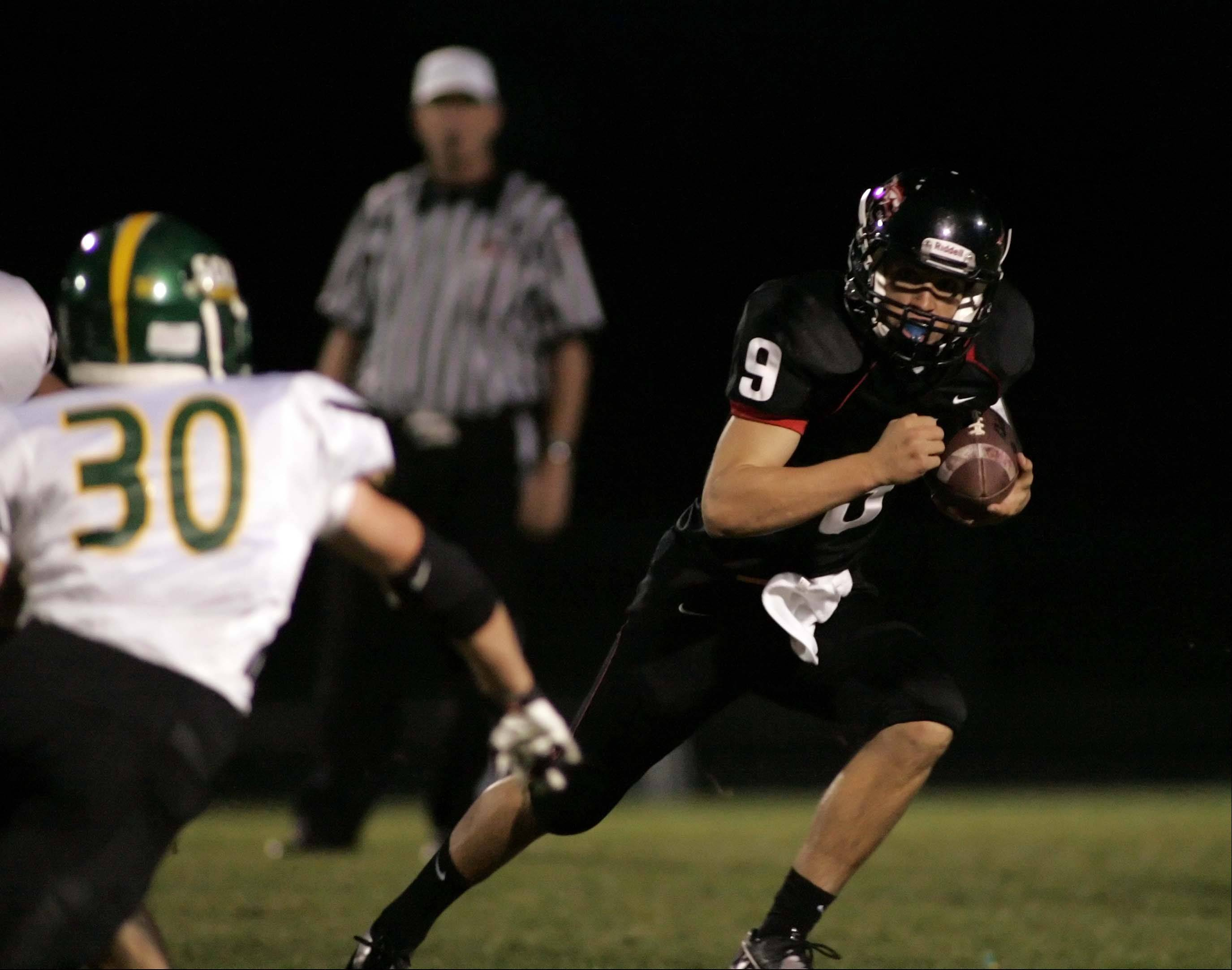 Huntley quarterback Kameron Sallee works against Crystal Lake South last week.