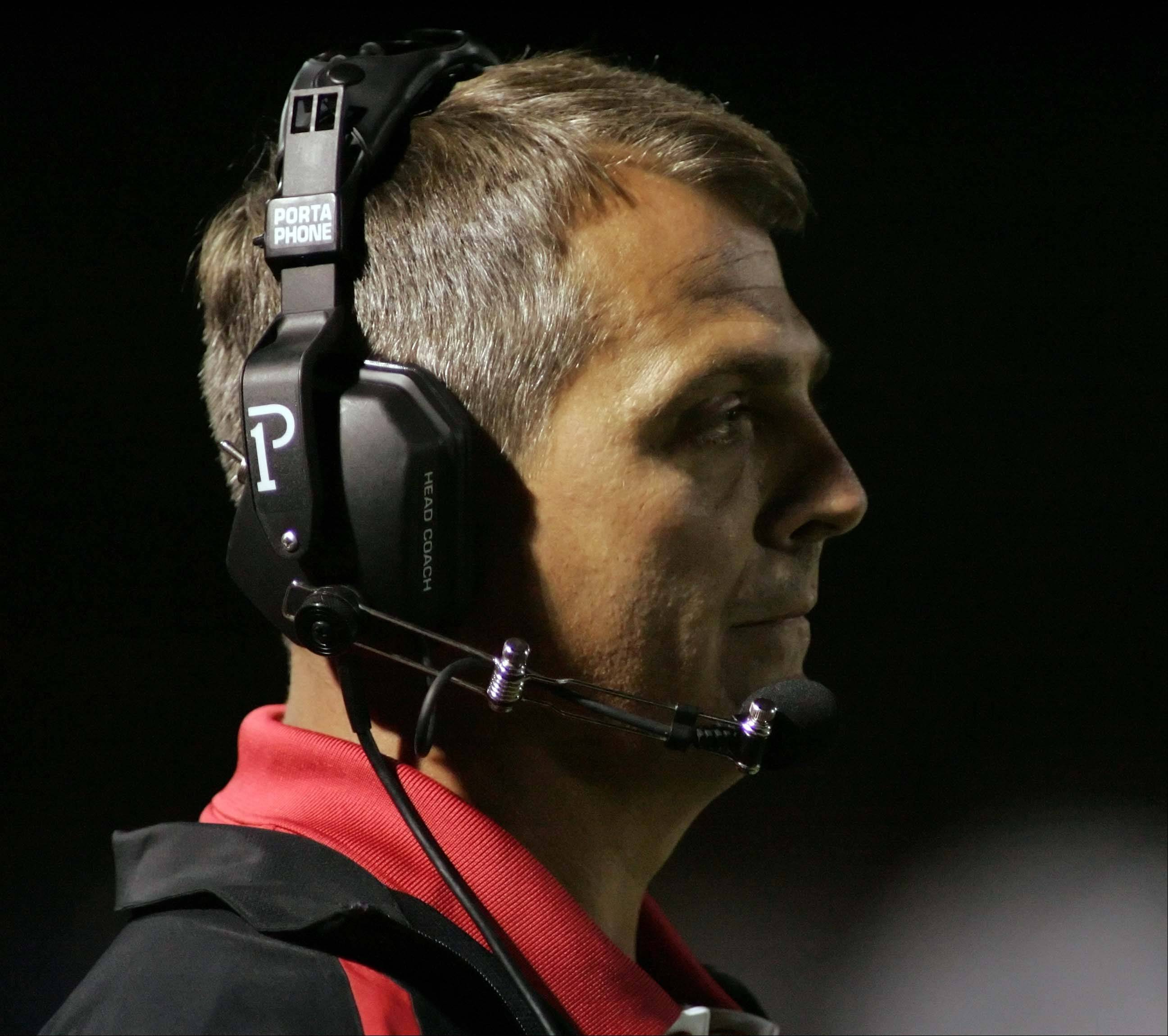 New Huntley football coach John Hart has the Red Raiders in the thick of the Fox Valley Conference Valley Division race heading into Friday's Homecoming matchup against Dundee-Crown.