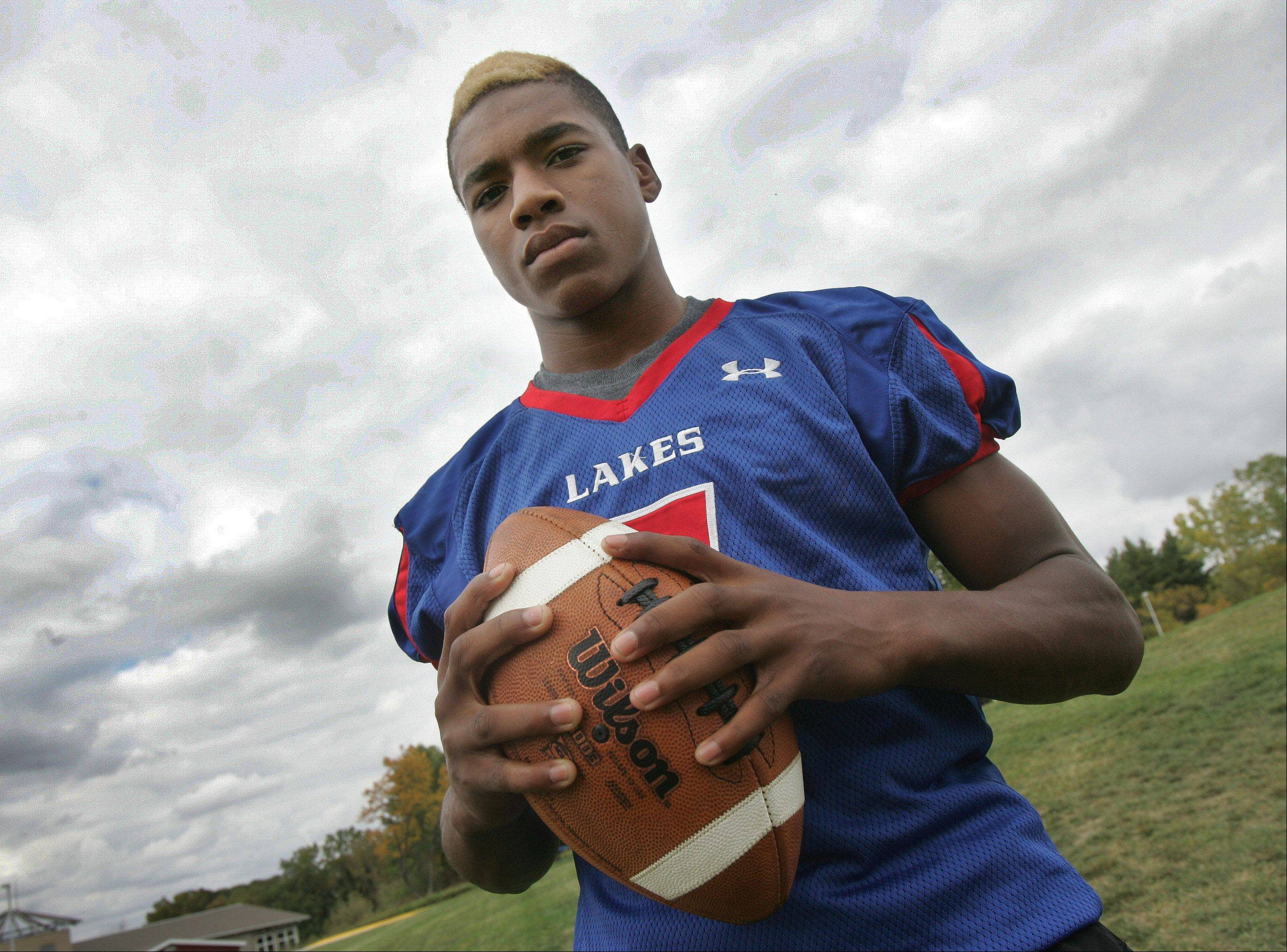 Sports has helped Lakes receiver Andrew Spencer meet the challenge of growing up without his father.