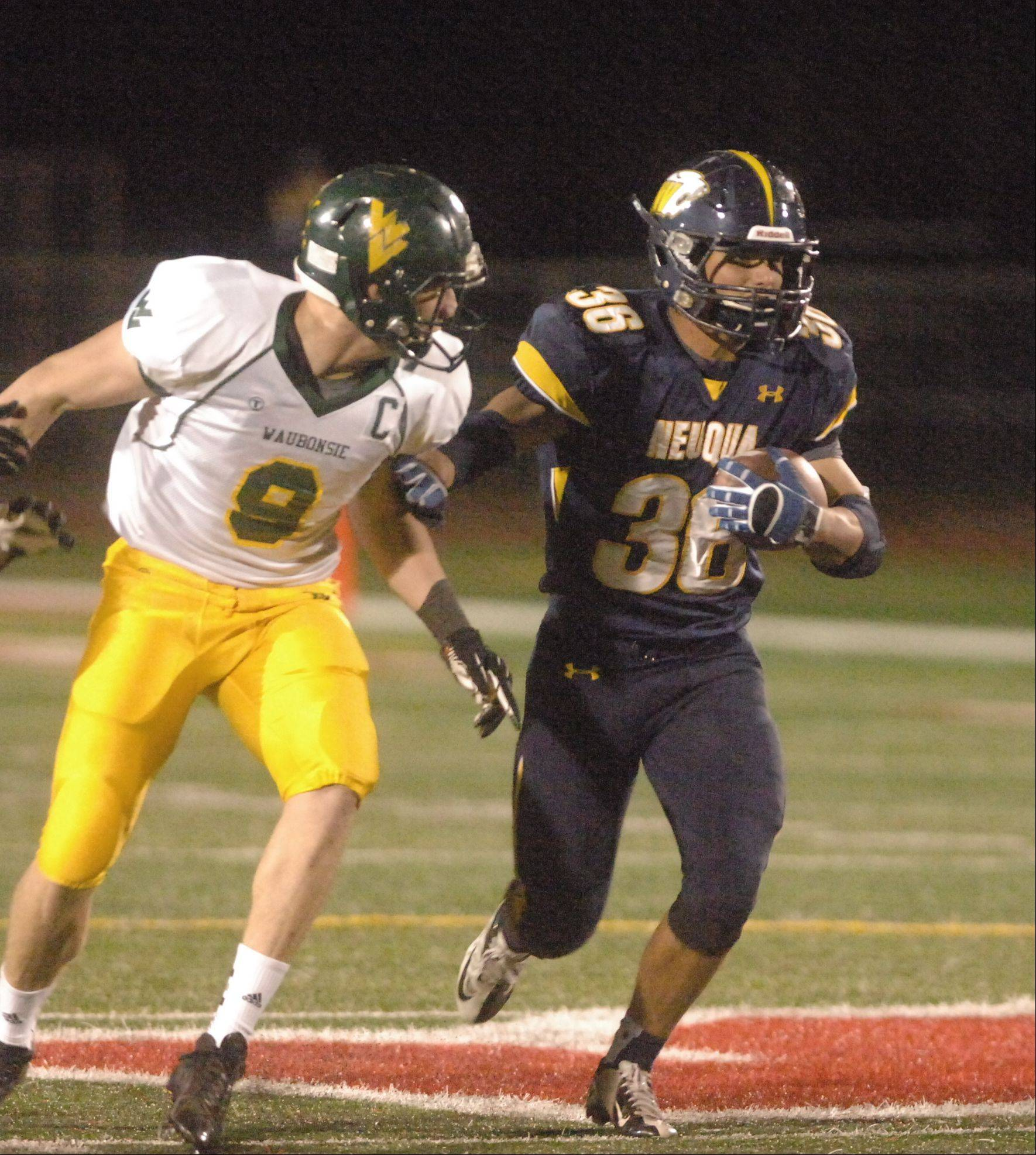 Photos from the Neuqua Valley vs. Waubonsie Valley football game Friday, October 5 at North Central College in Naperville.