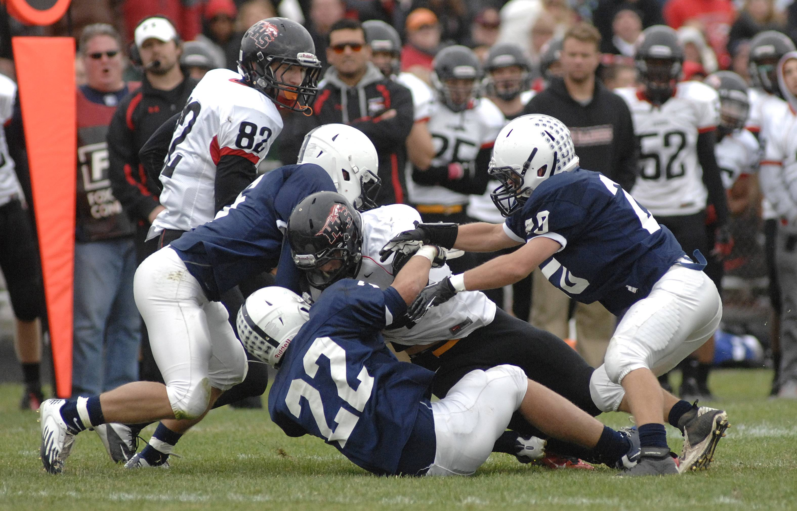 The Cary-Grove Trojans hosted the Huntley Red Raiders in a marquis prep football match-up Saturday in Cary. Cary-Grove beat Huntley 41-14.
