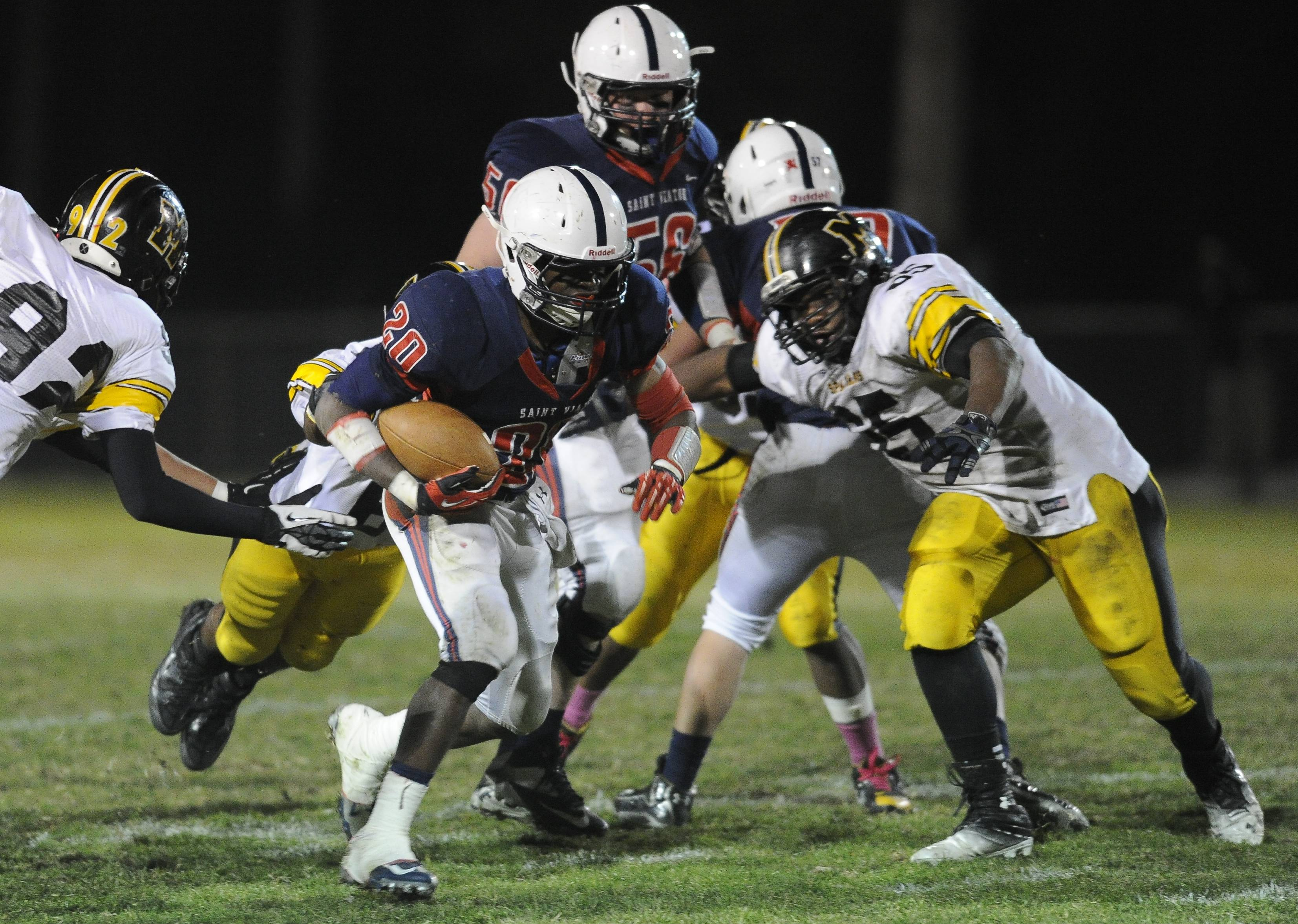 St. Viator beat Marian Catholic in Friday night football action in Arlington Heights.