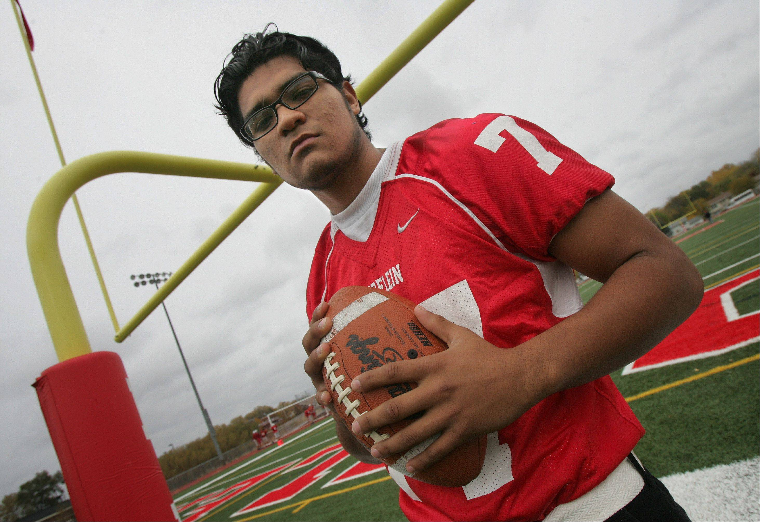 The rigors of football at Mundelein helped defensive lineman Julio Sermeno make life changes for the better.