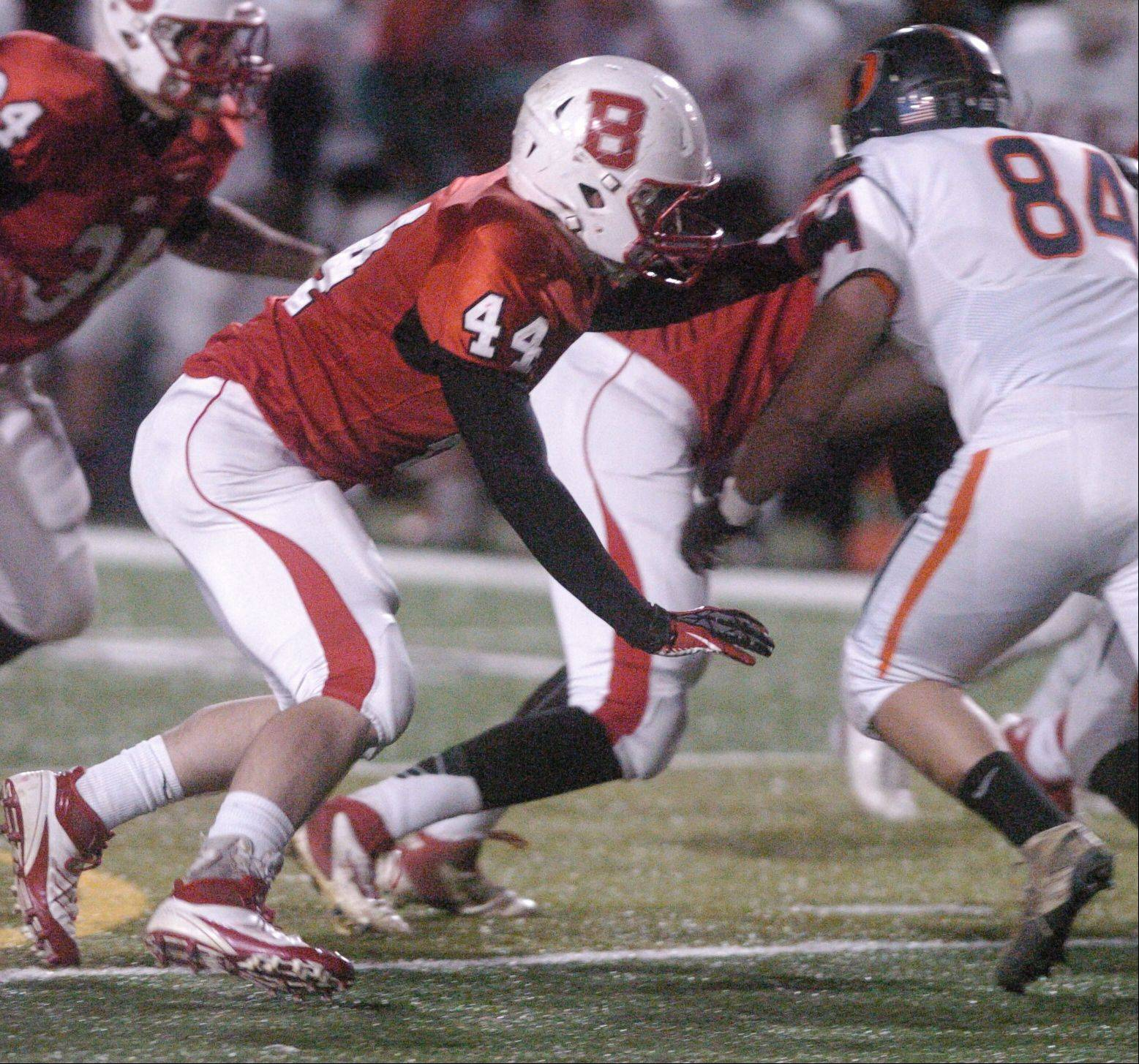 Benet hosted Oswego in Week 2 of the IHSA football playoffs Friday night at Benedictine University in Lisle
