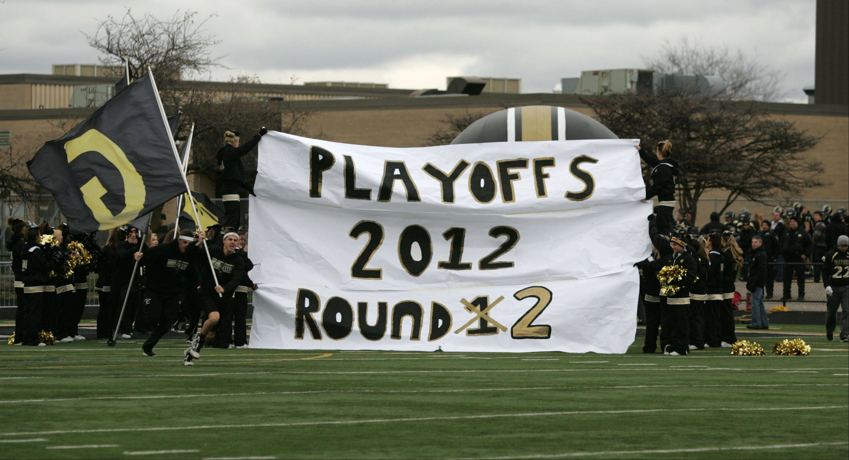 $PHOTOCREDIT_ON$Glenbard North's battles Stevenson's during second round Class 8A football playoffs.Daniel White/dwhite@dailyherald.com$PHOTOCREDIT_OFF$ Glenbard North hosted Stevenson Saturday afternoon for IHSA round 2 playoff football in Carol Stream.